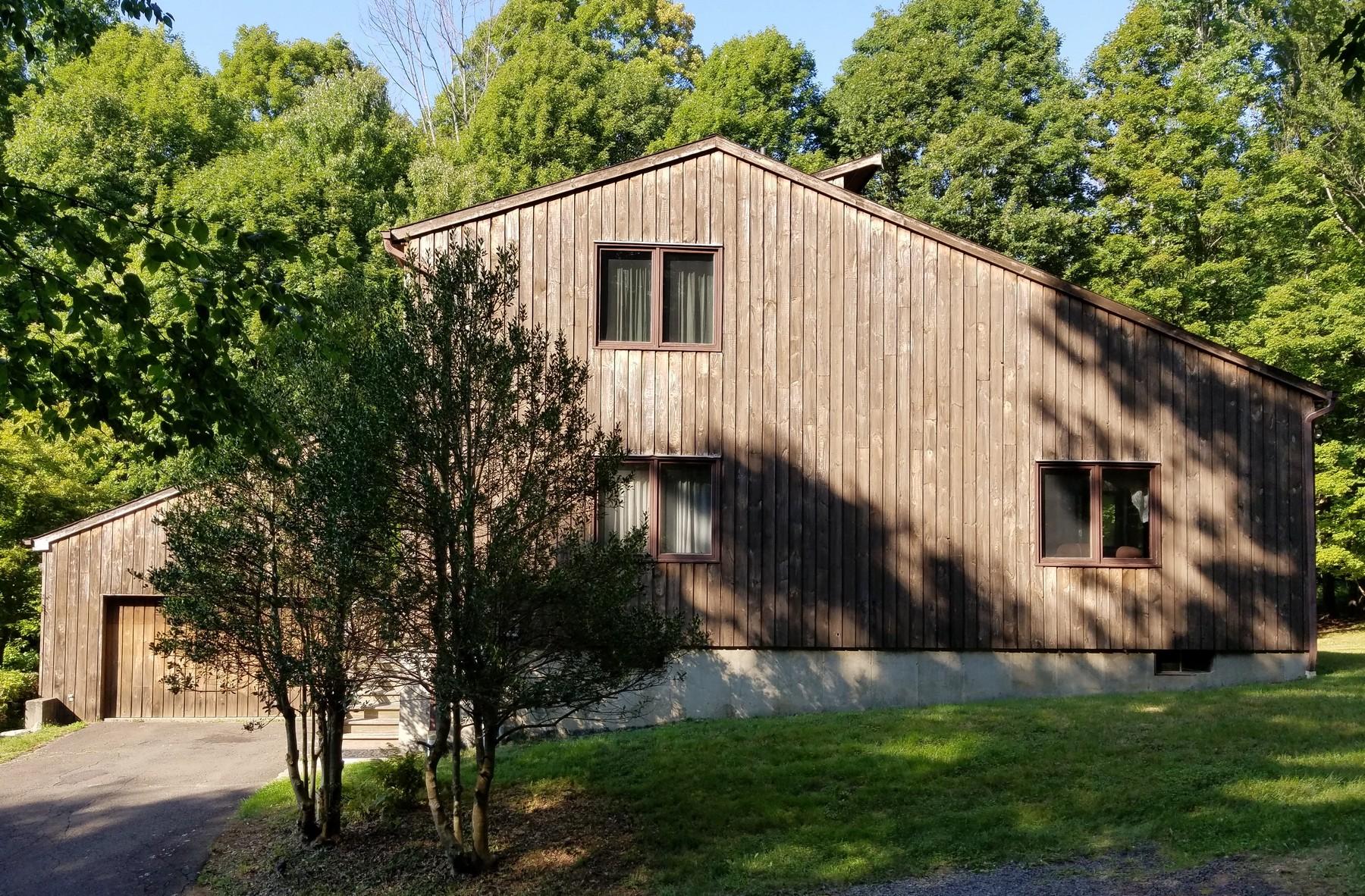 Maison unifamiliale pour l Vente à Contemporary Privately Set on Six Acres 49 Pine Mountain Road Ridgefield, Connecticut, 06877 États-Unis