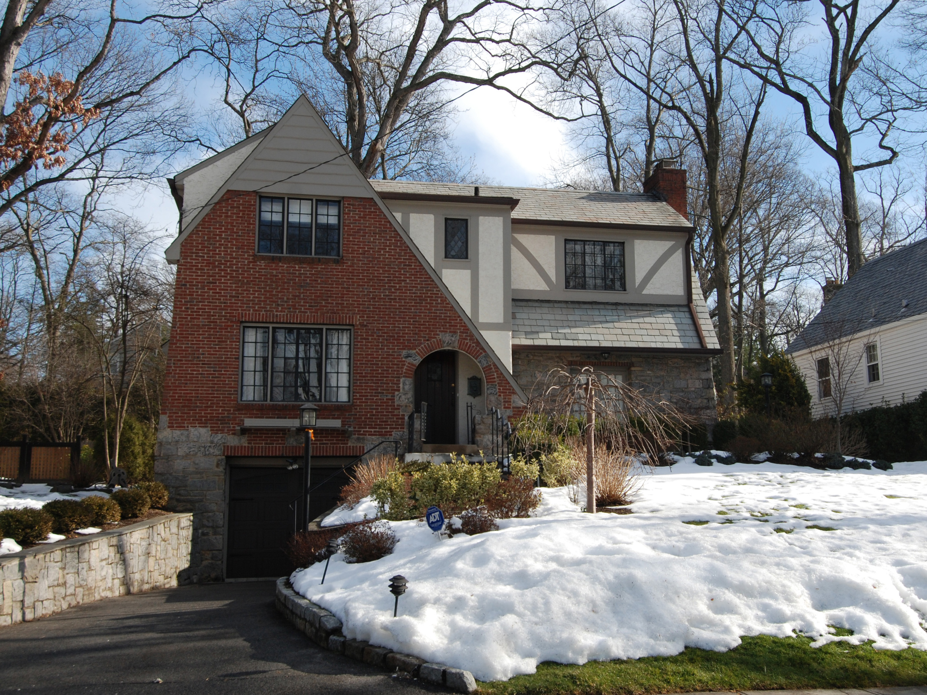 Single Family Home for Sale at Charming Larchmont Woods Tudor 35 Kingsbury Road New Rochelle, New York 10804 United States