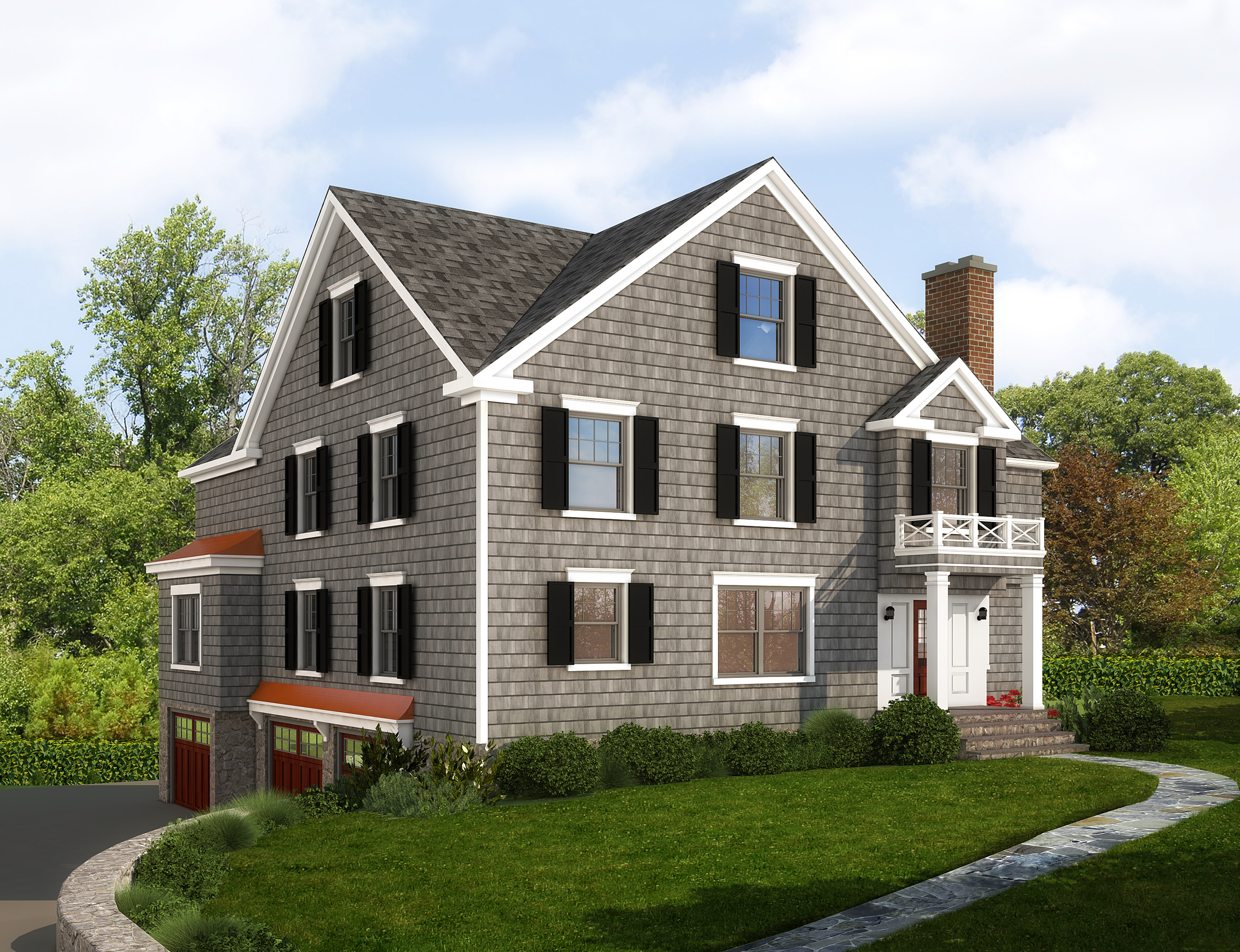 Villa per Vendita alle ore Custom Colonial by JWH Designs 151 Old Post Road Rye, New York 10580 Stati Uniti