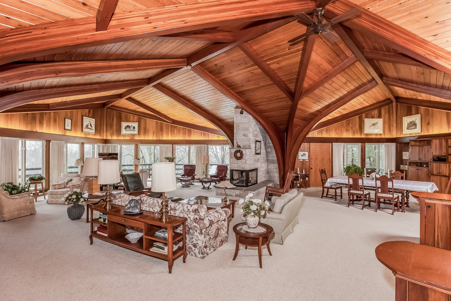 Single Family Home for Sale at Dramatic Mid Century Contemporary 35 Hurlbutt Rd Ledyard, Connecticut 06335 United States