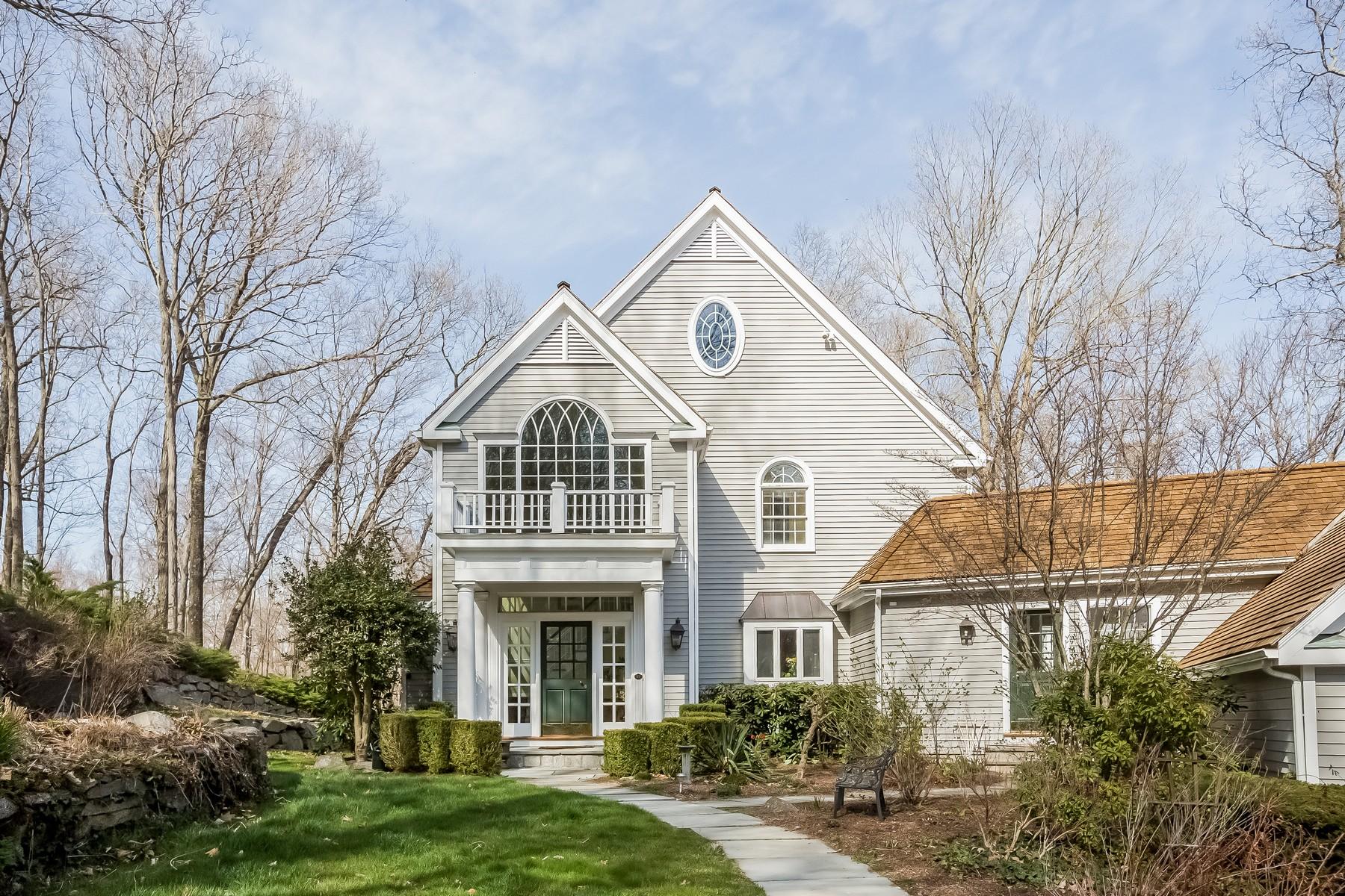 Casa para uma família para Venda às Intriguing Colonial with Reservoir Views 222 Nod Hill Road Wilton, Connecticut, 06897 Estados Unidos