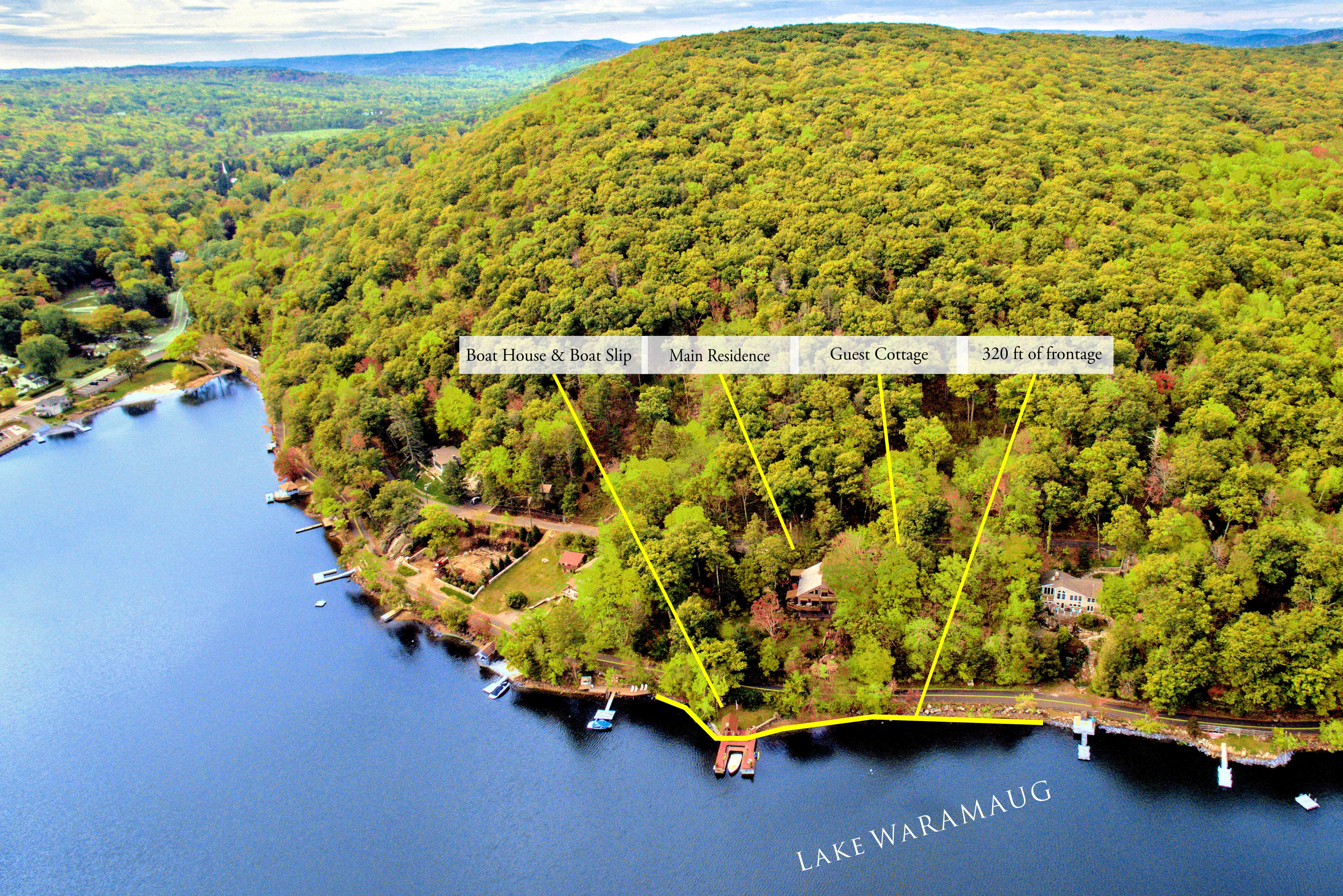 sales property at Prime Waterfront on Lake Waramaug
