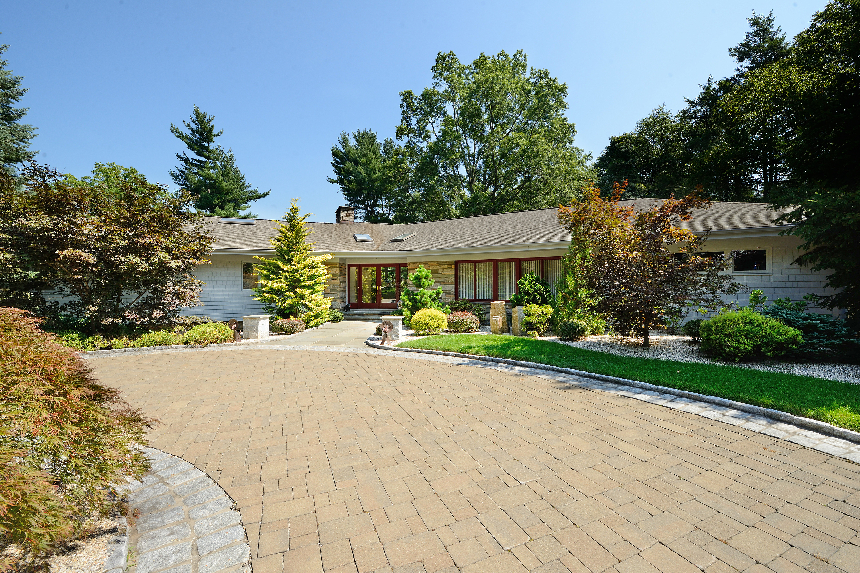 Single Family Home for Sale at Architecturally exciting residence 9 Pilgrim Road Rye, New York 10580 United States
