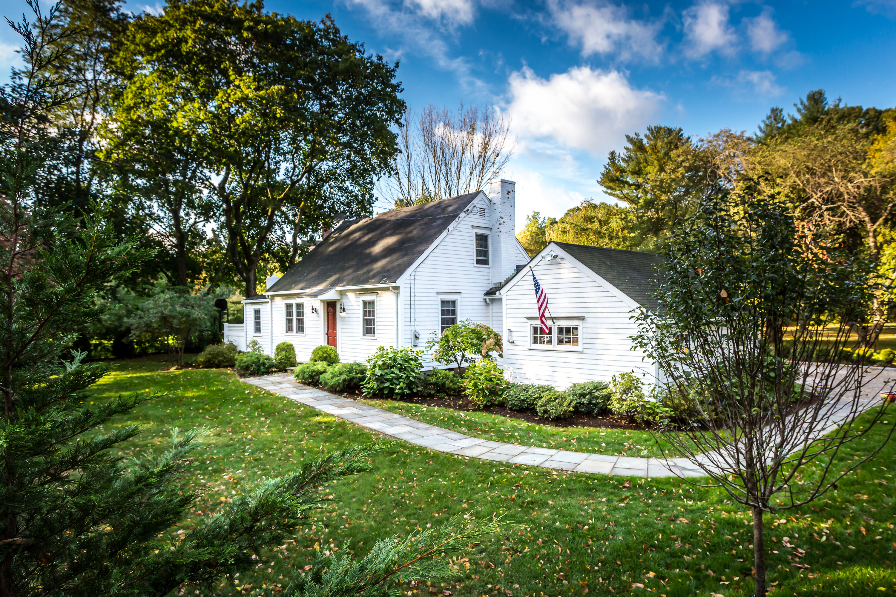 Single Family Home for Sale at Charming Renovated Cape 108 Weed Street New Canaan, Connecticut 06840 United States