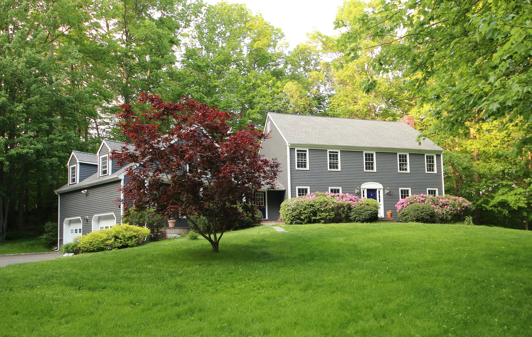 Single Family Home for Sale at Impressive Colonial 40 Lounsbury Lane Ridgefield, Connecticut, 06877 United States