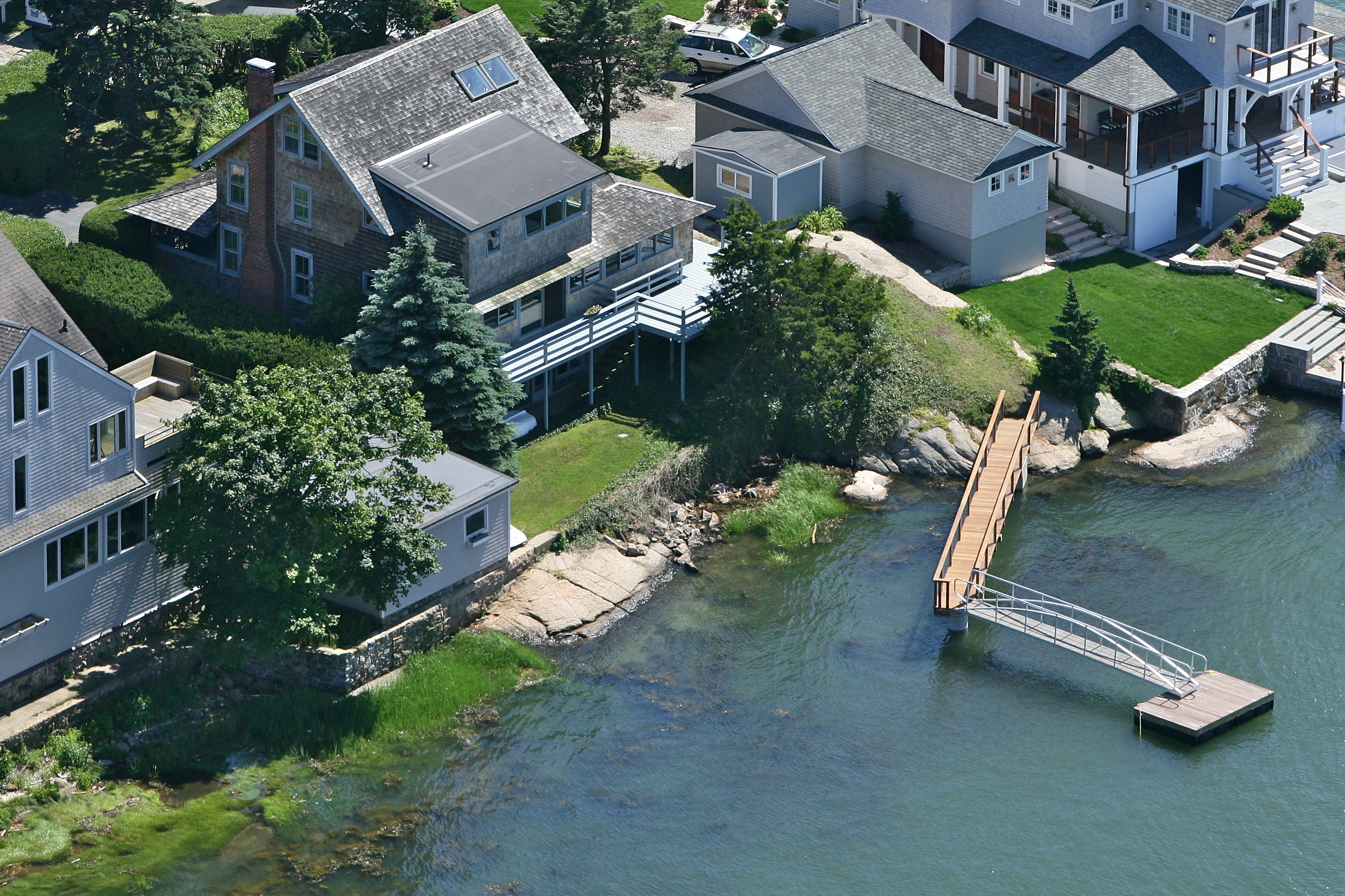 Single Family Home for Sale at Direct Waterfront on Sachem's Head 55 Chimney Corner Cir Guilford, Connecticut, 06437 United States