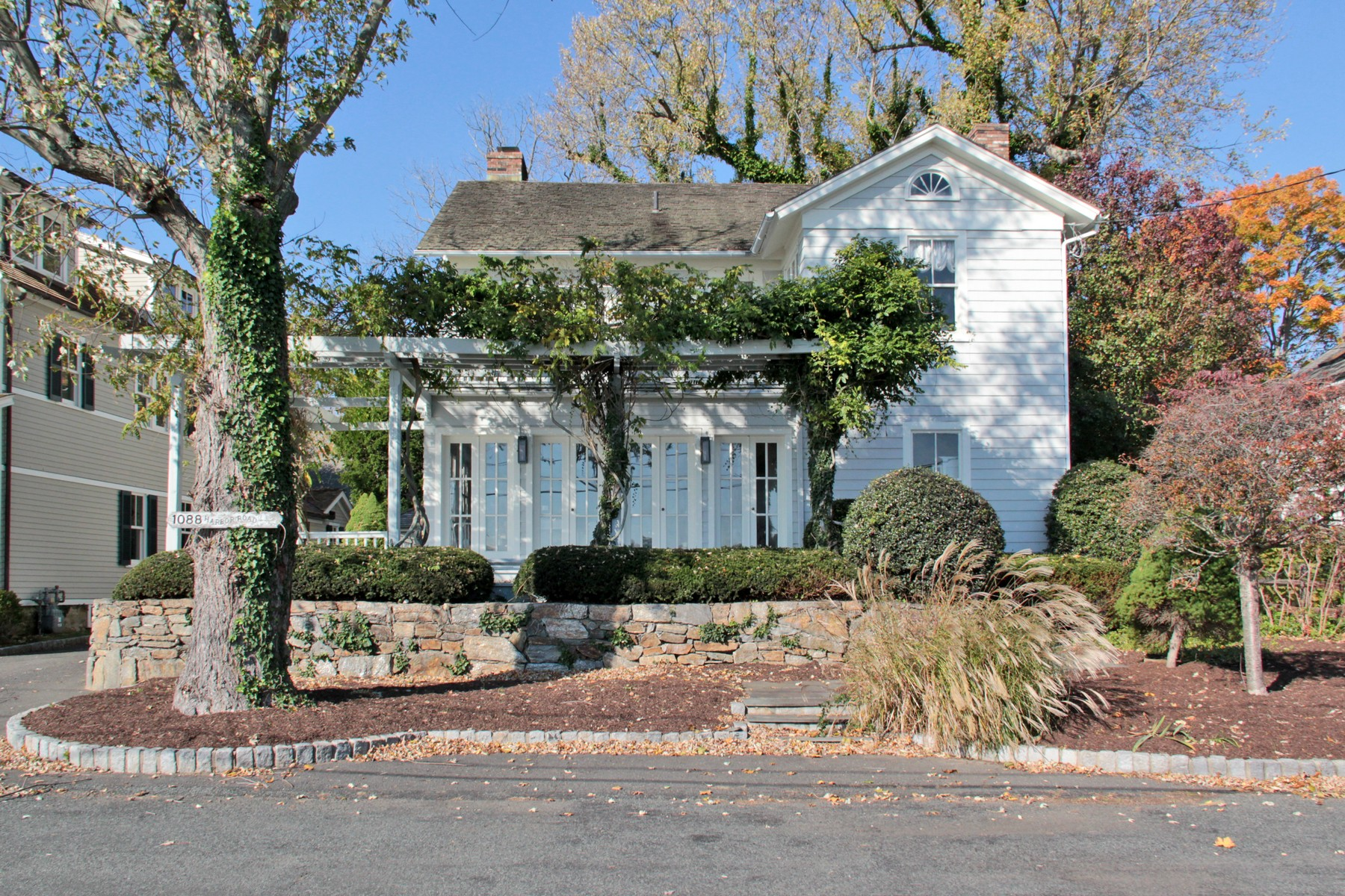Single Family Home for Sale at Magnificent Long Island Sound Views - 1800 Historic Southport Harbor Home 1088 Harbor Road Southport, Connecticut 06890 United States