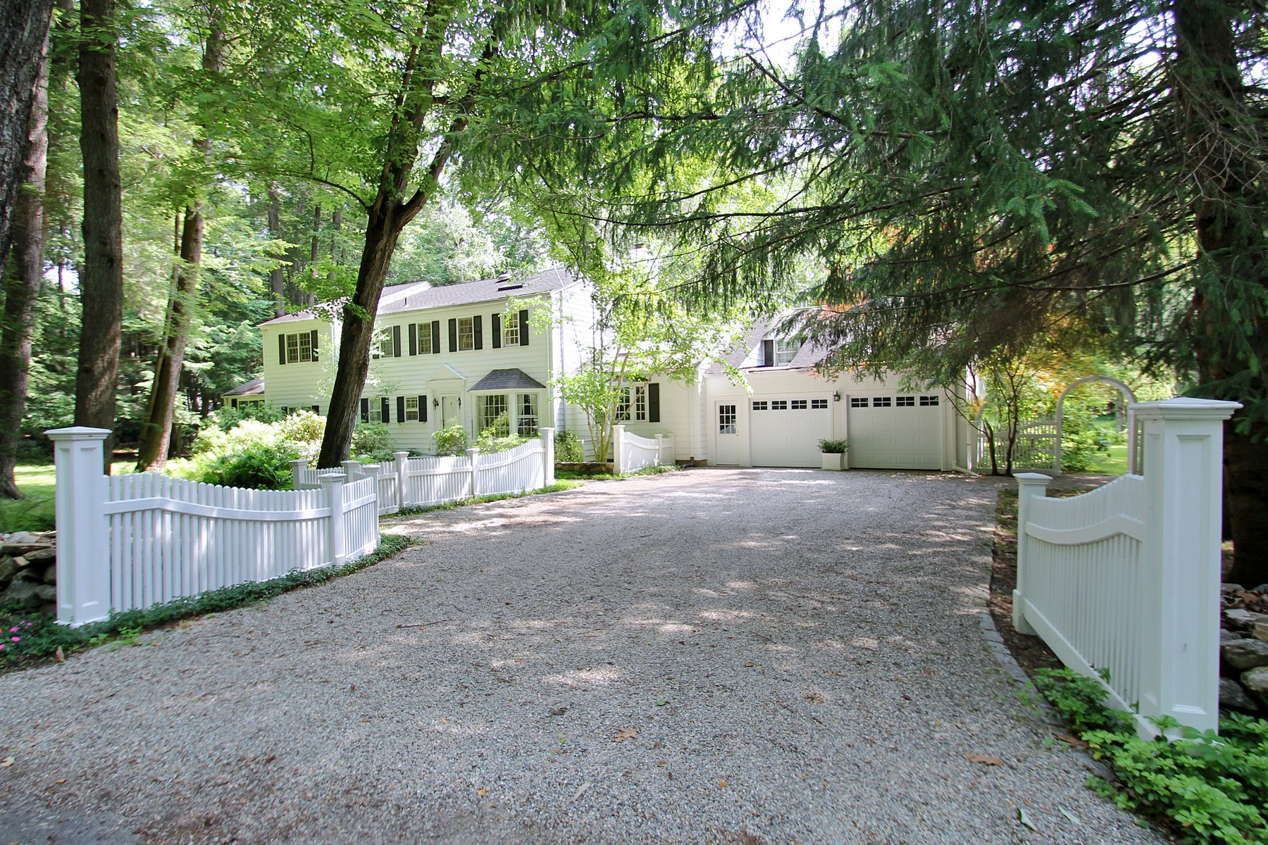 Property For Sale at Wonderful Welcoming Colonial on Gorgeous Private Two Acres in Lower Weston