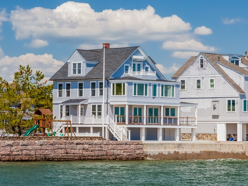 Single Family Home for Sale at Totally Renovated Waterfront 144 Middle Beach Road Madison, Connecticut 06443 United States