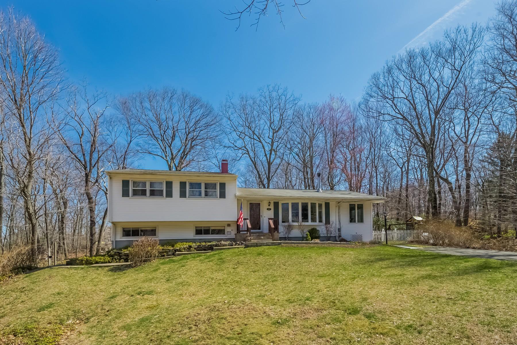 Частный односемейный дом для того Продажа на Stylishly Updated Split 107 Bob Hill Road Ridgefield, Коннектикут, 06877 Соединенные Штаты
