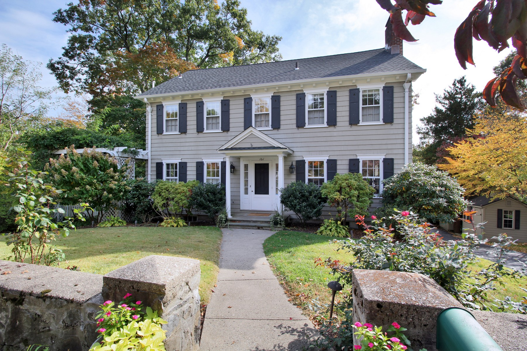 Property For Sale at Classic New England Center Hall Colonial on Desirable Tree-Lined Stratfield Stre
