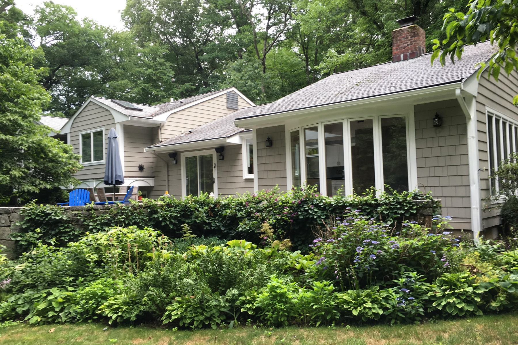 Single Family Home for Sale at Contemporary Flair! 54 Huckleberry Hill Road New Canaan, Connecticut, 06840 United States
