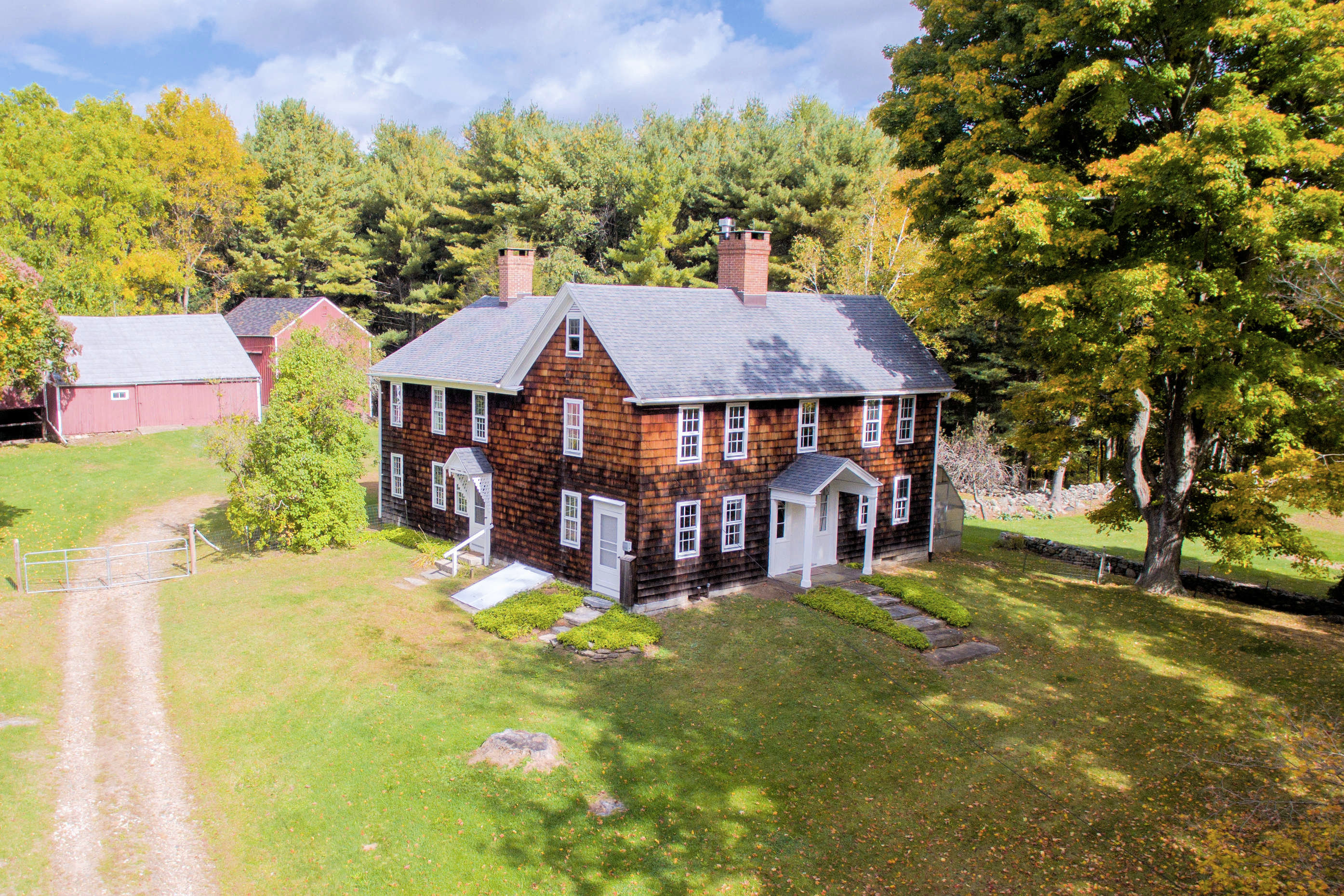 Property For Sale at 1700's Antique Colonial Farm on 99 Acres