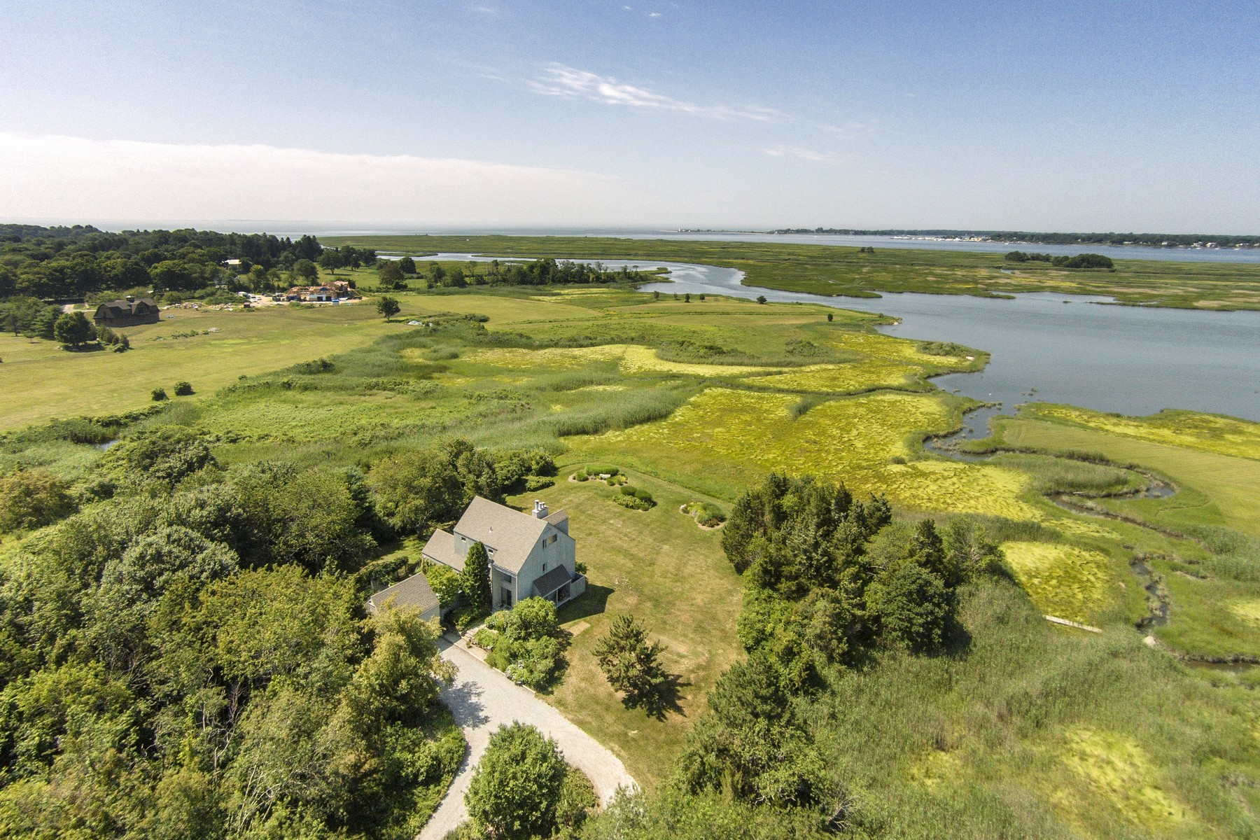 Single Family Home for Sale at Surrounded by 18 Acre of Nature Conservancy 65 Shore Rd Old Lyme, Connecticut 06371 United States