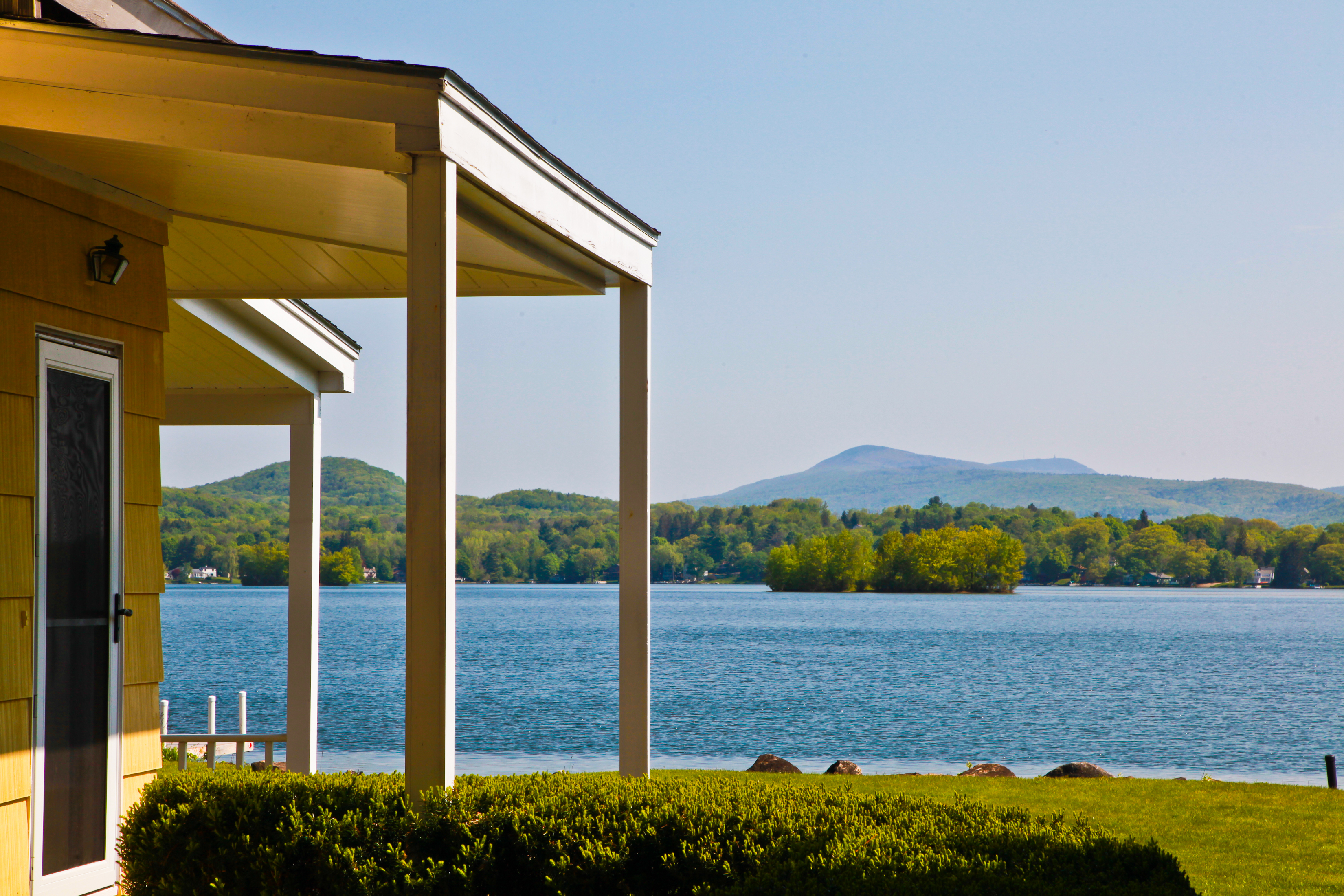Single Family Home for Sale at Prime Four Season Waterfront Home on the South Coast of Pontoosuc Lake with view 16 Waubeek Rd Pittsfield, Massachusetts 01201 United States