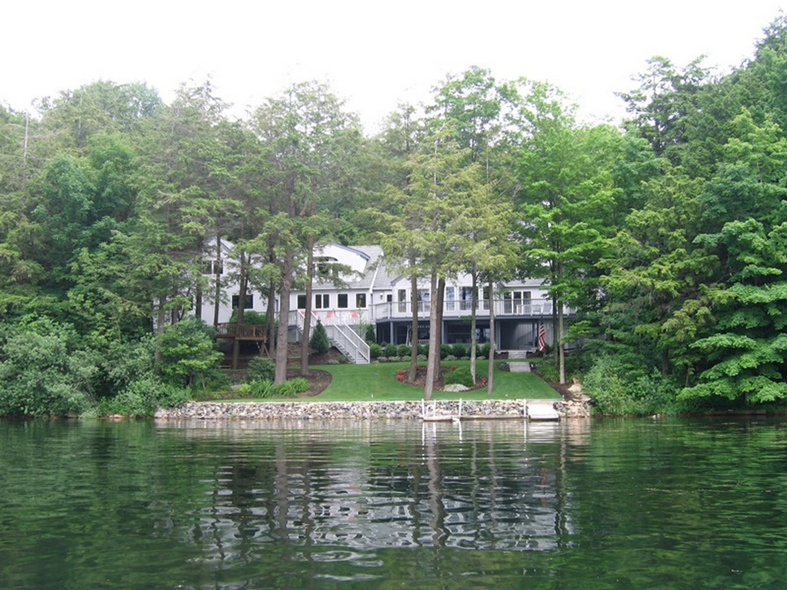 Property For Sale at Lakefront Home on a Protective Cove