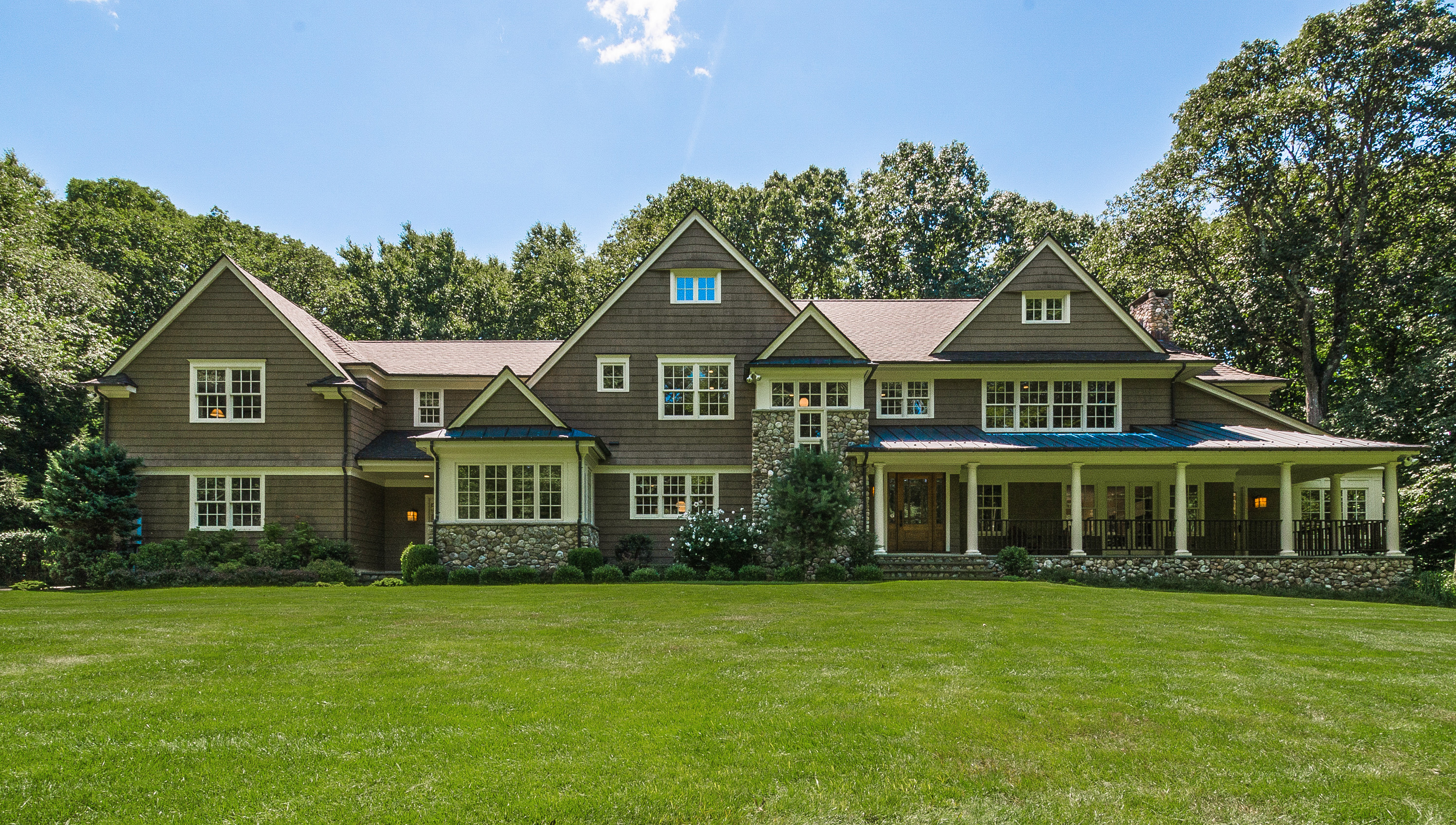 Property For Sale at Masterfully Crafted Stone & Shingle Colonial
