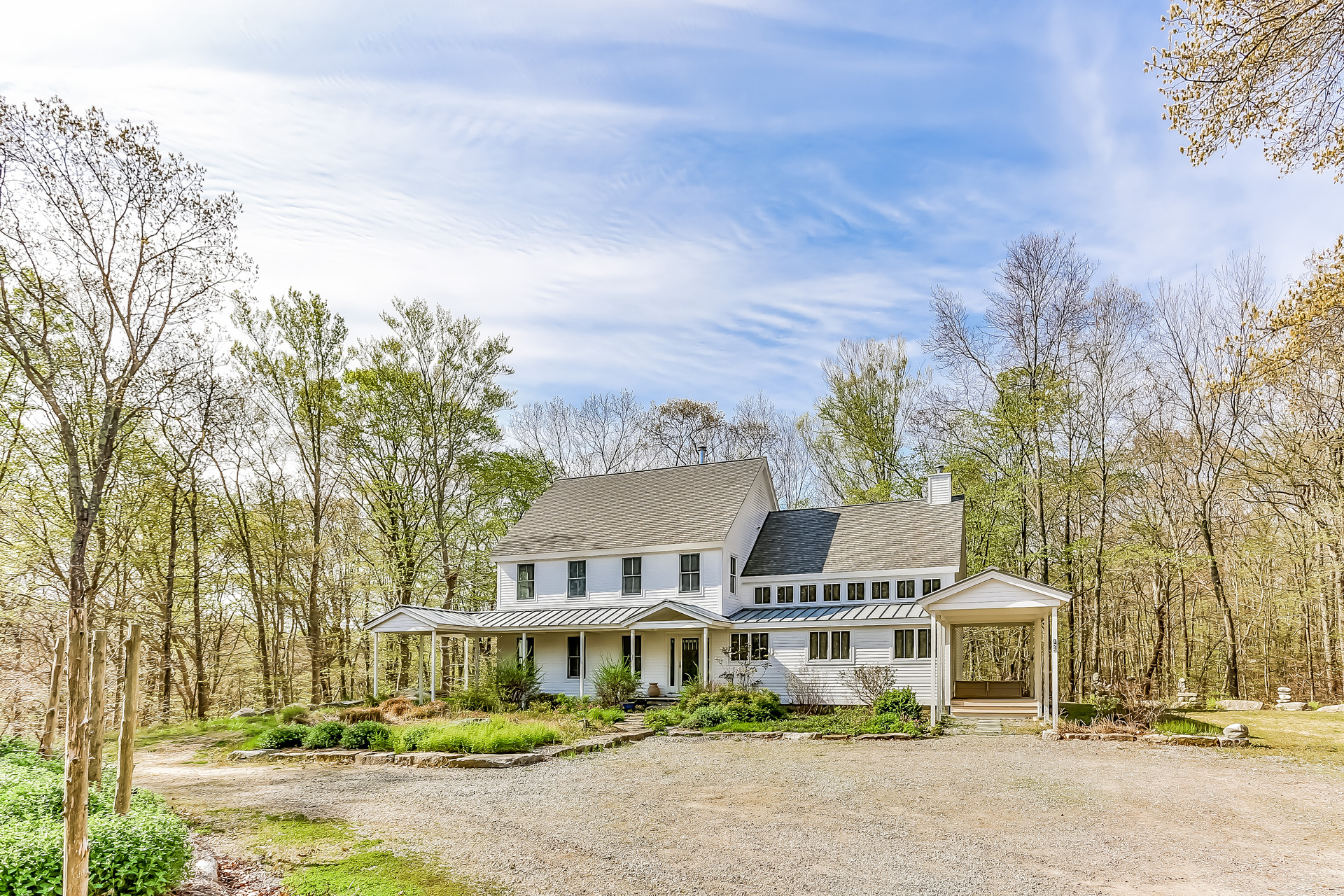 Single Family Home for Sale at Custom built home designed to blend the natural landscape with state of the art 125 Fishtown Road Groton, Connecticut 06355 United States