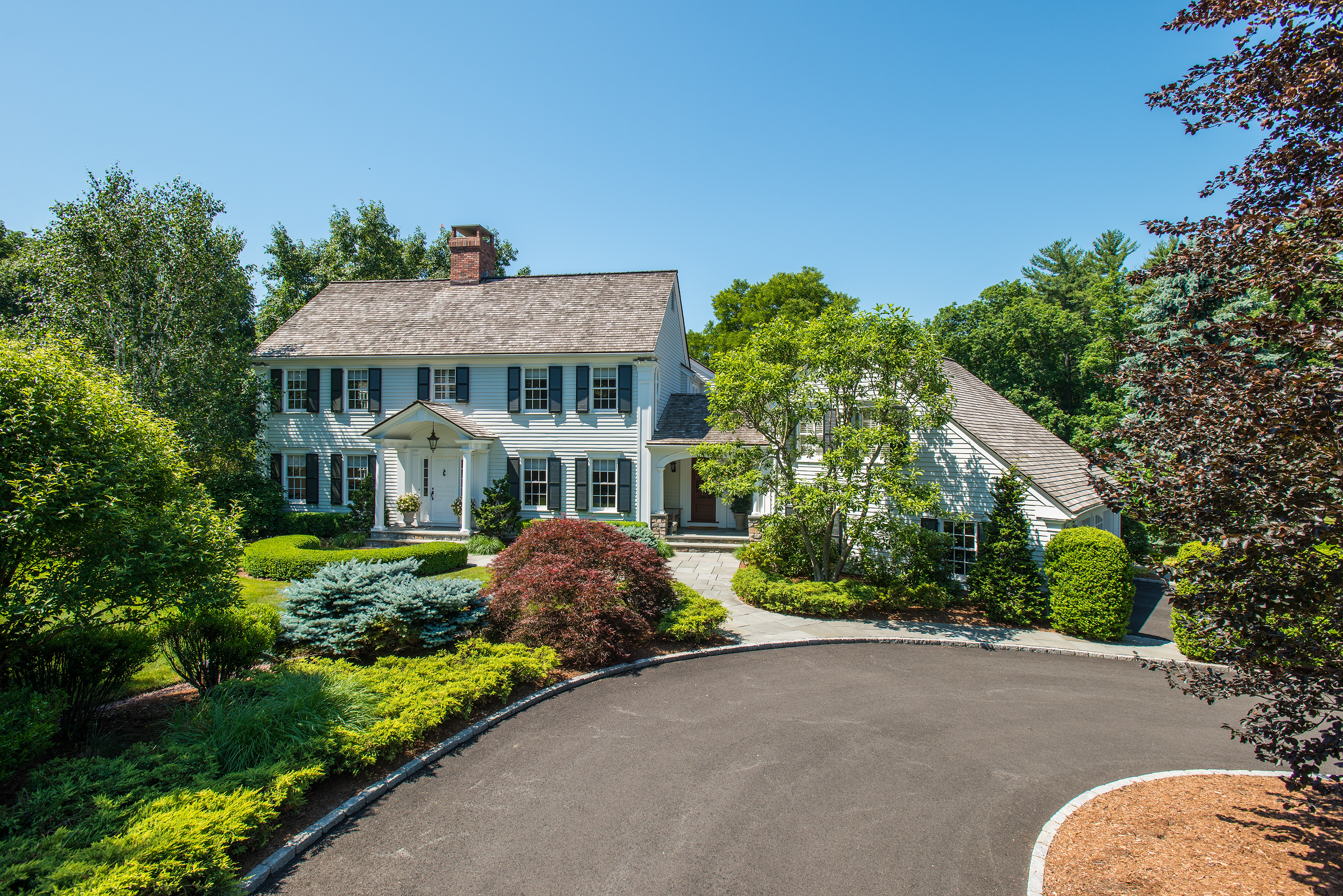 Single Family Home for Sale at Pure Perfection in South Wilton 173 Drum Hill Road Wilton, Connecticut, 06897 United States