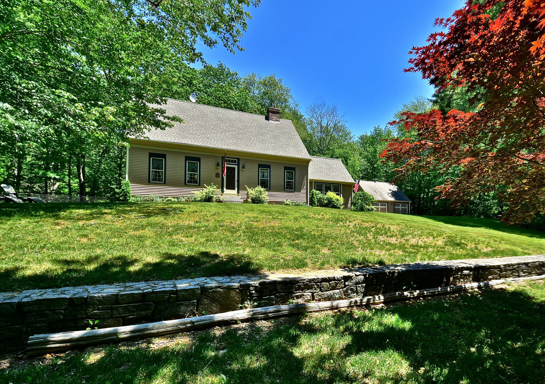 Single Family Home for Sale at Pristine Reproduction Cape Cod 8 Short Hills Rd Old Lyme, Connecticut 06371 United States