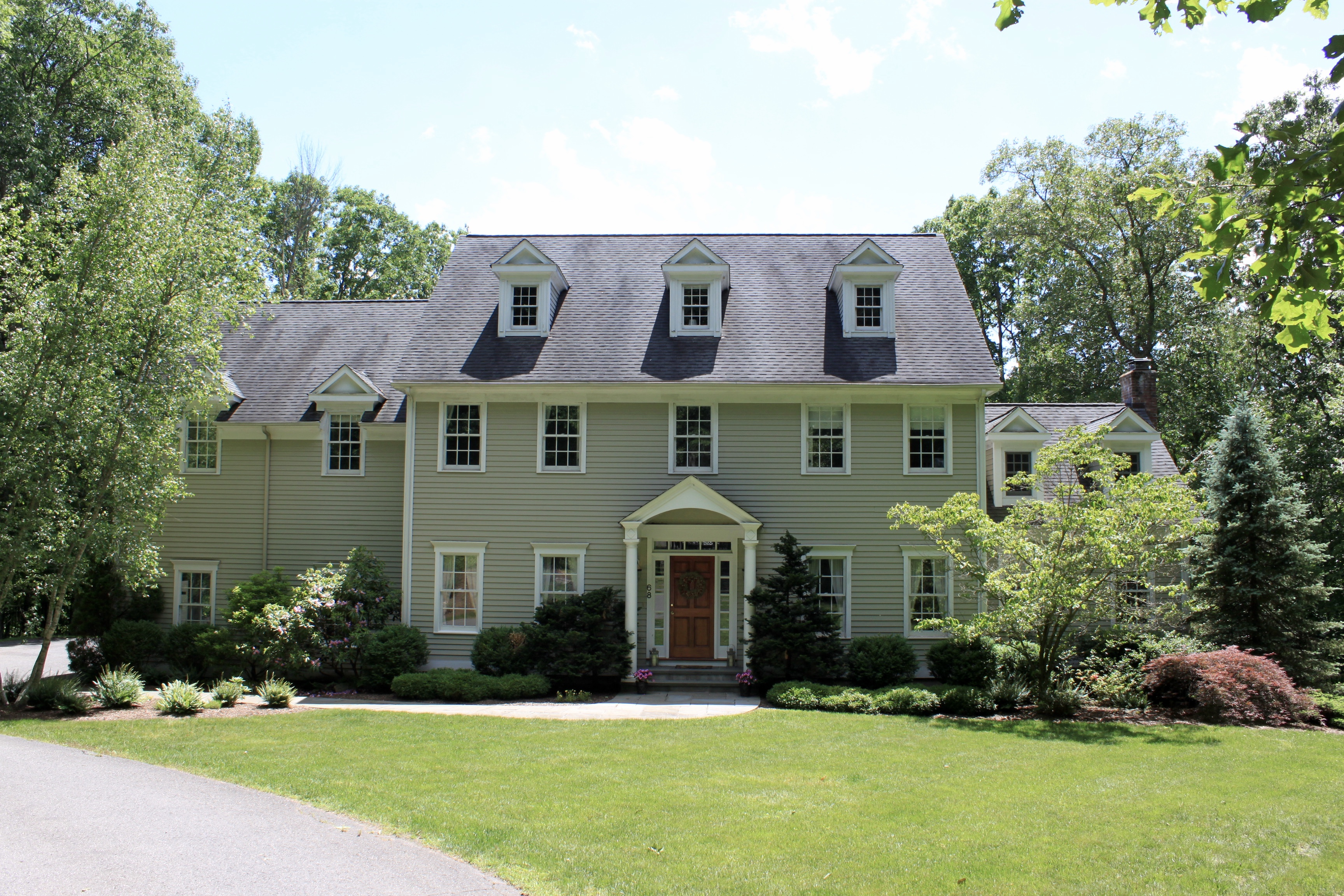 Single Family Home for Sale at Spacious Colonial Set Privately 68 Topstone Road Ridgefield, Connecticut, 06877 United States