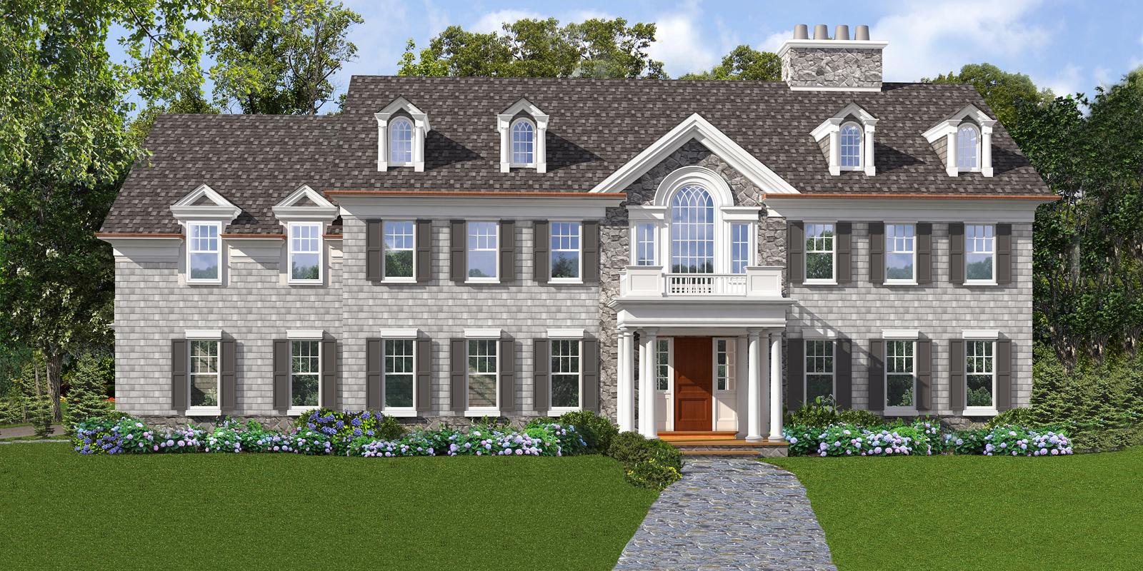 Casa para uma família para Venda às Grand and sophisticated Colonial Home 348 Woodlands Road Harrison, Nova York 10528 Estados Unidos