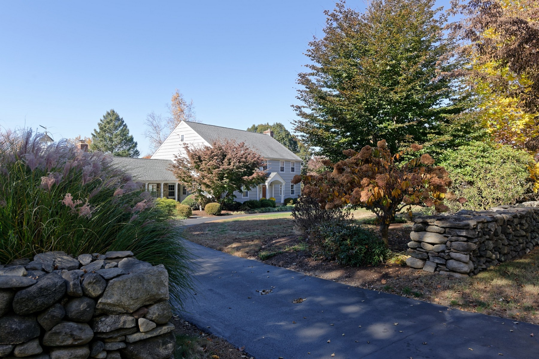 sales property at Pristine, Elegant Stone and Shingle Colonial on 2.76 Pastoral Acres with Barn