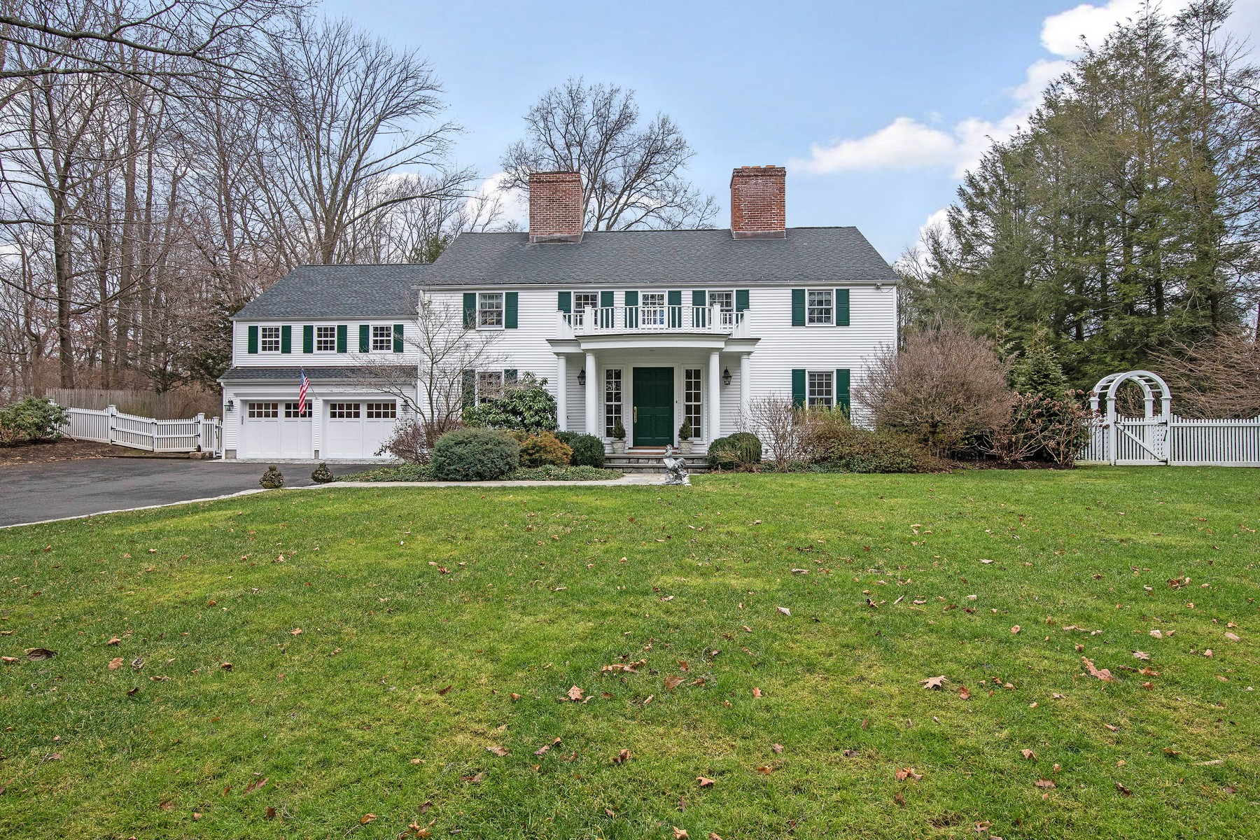 Single Family Home for Sale at Quintessential New England Colonial 142 Brookside Road Darien, Connecticut, 06820 United States