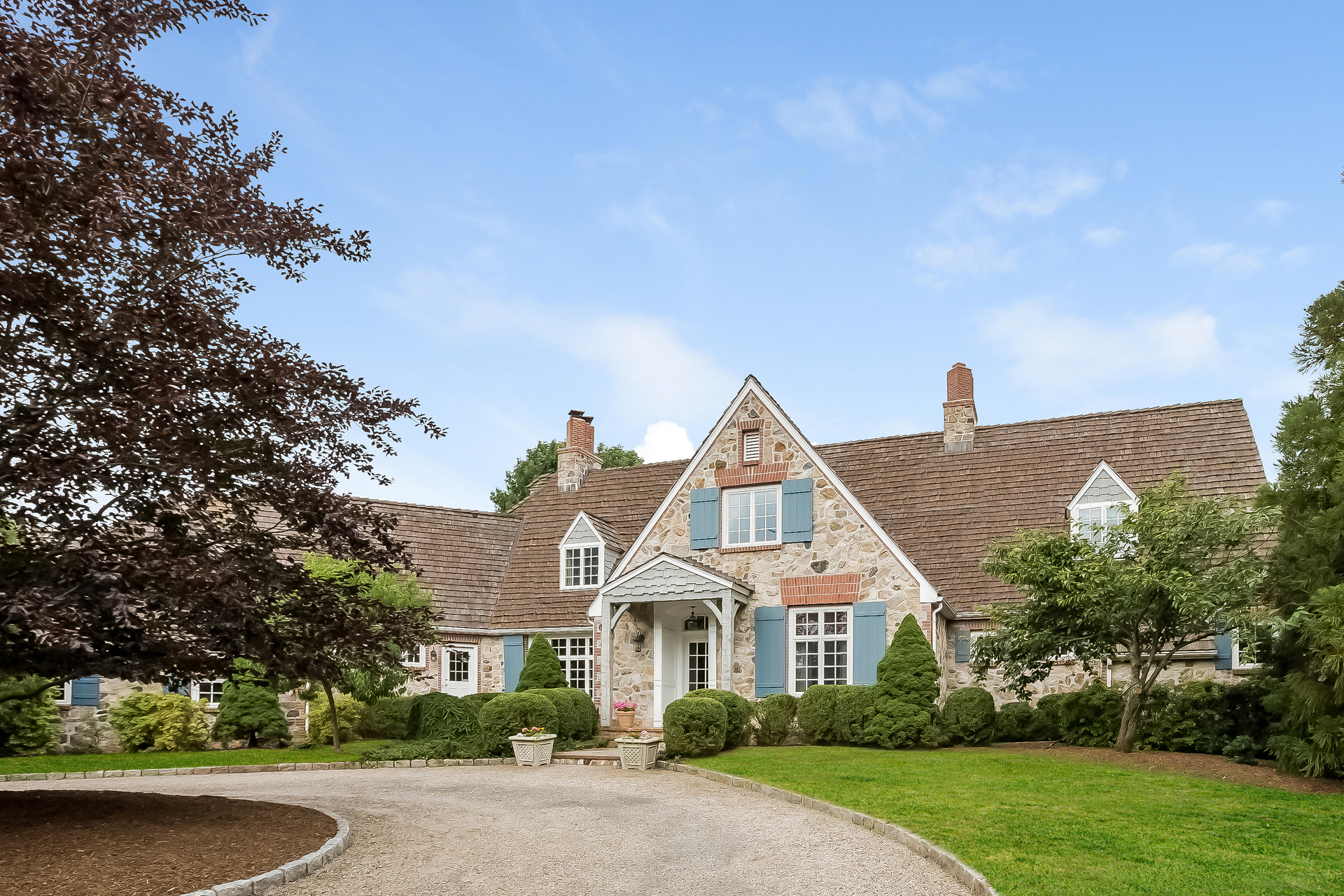 Single Family Home for Sale at Stone & Shingle French Country Manor 132 Nod Road Ridgefield, Connecticut, 06877 United States