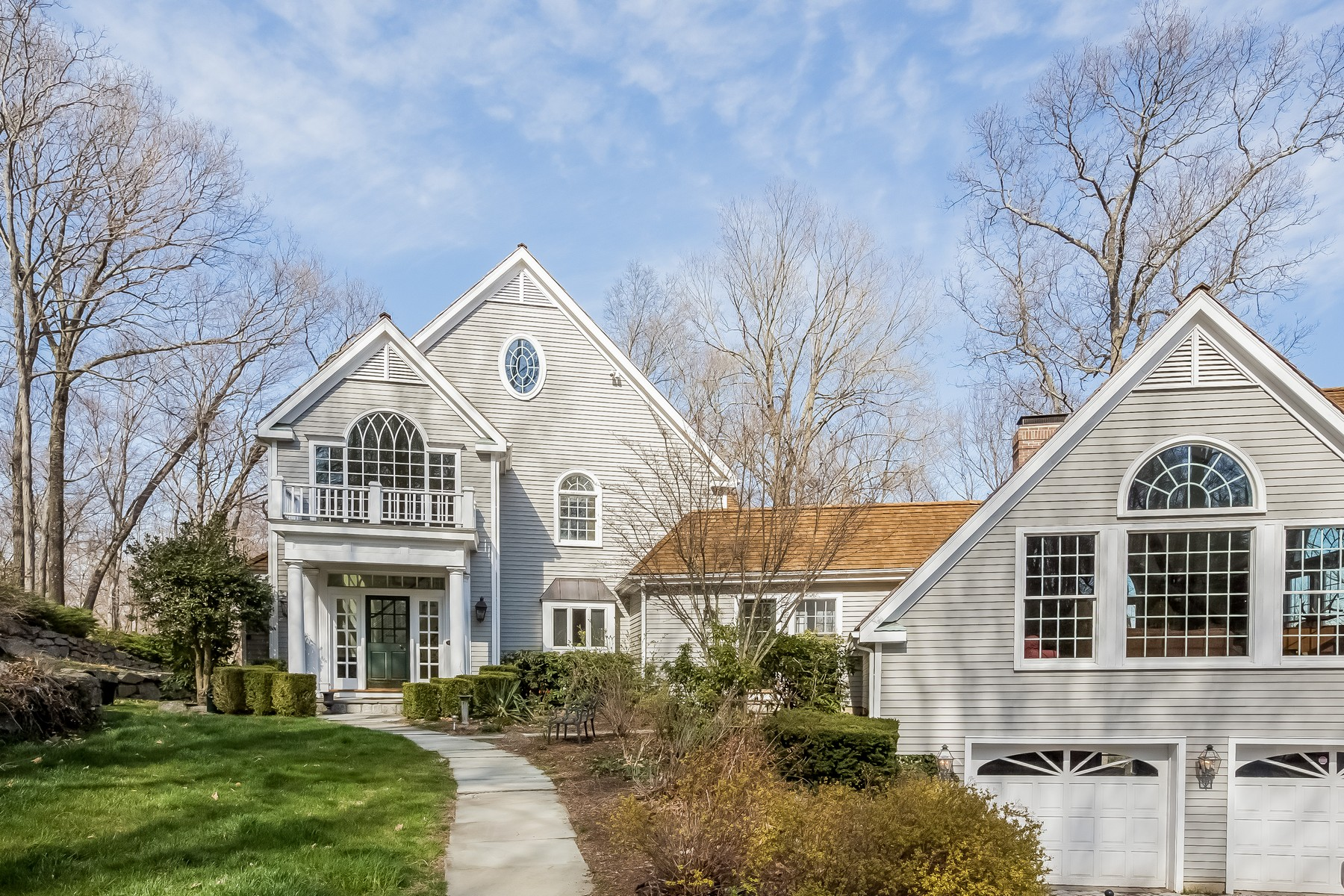 Single Family Home for Sale at Intriguing Colonial with Reservoir Views 222 Nod Hill Road Wilton, Connecticut, 06897 United States