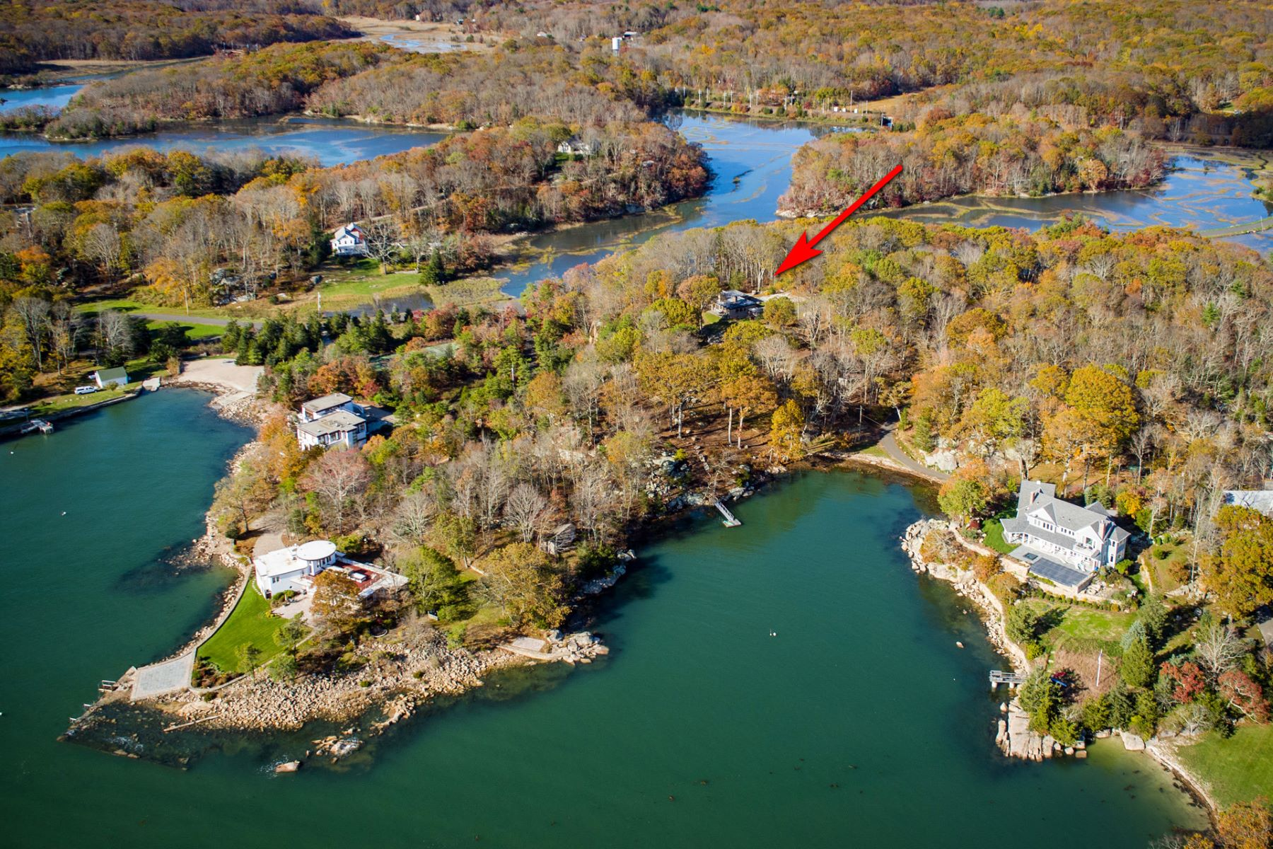 Single Family Home for Sale at Mid-Century Modern Jewel- Direct Waterfront 170 Old Quarry Road, Guilford, Connecticut, 06437 United States
