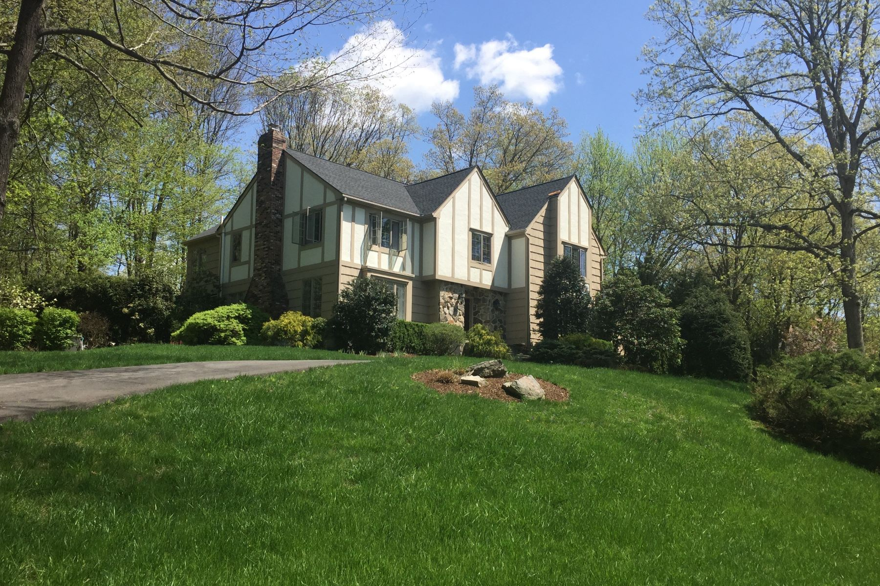 Single Family Homes for Sale at Classic Tudor 32 Hull Place Ridgefield, Connecticut 06877 United States