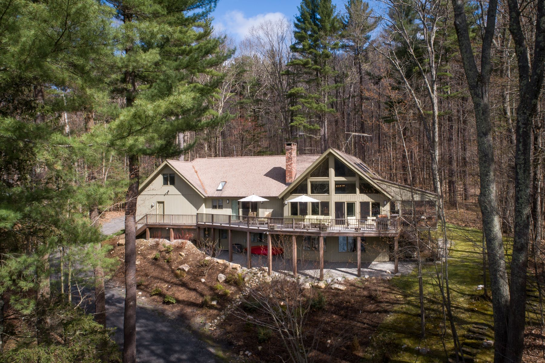 Single Family Home for Active at Spacious Private Retreat with Pristine Lake Views, 10 Minutes to Great Barringto 27 Stevens Lake Way Monterey, Massachusetts 01245 United States