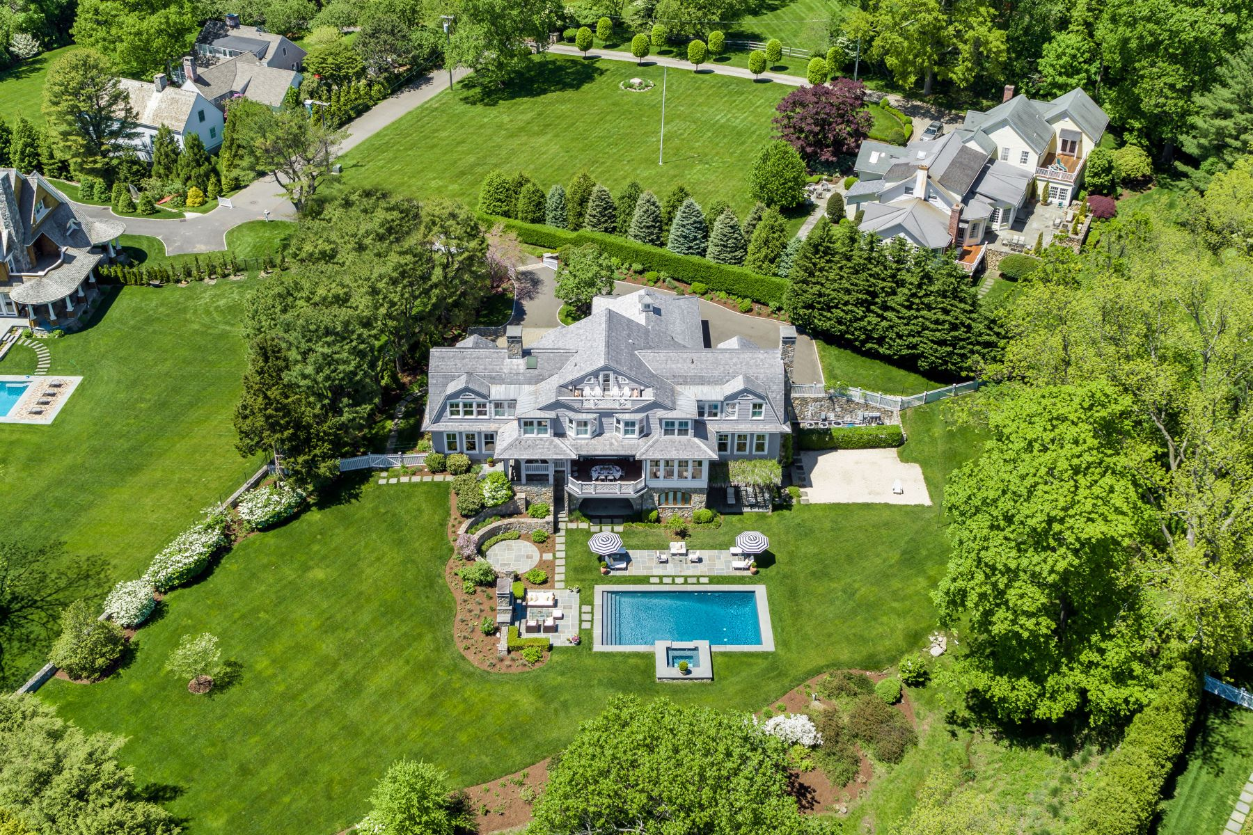 Single Family Homes for Sale at Gracing a Hilltop Setting at Prestigious Minute Man Hill 16 Minute Man Hill Westport, Connecticut 06880 United States