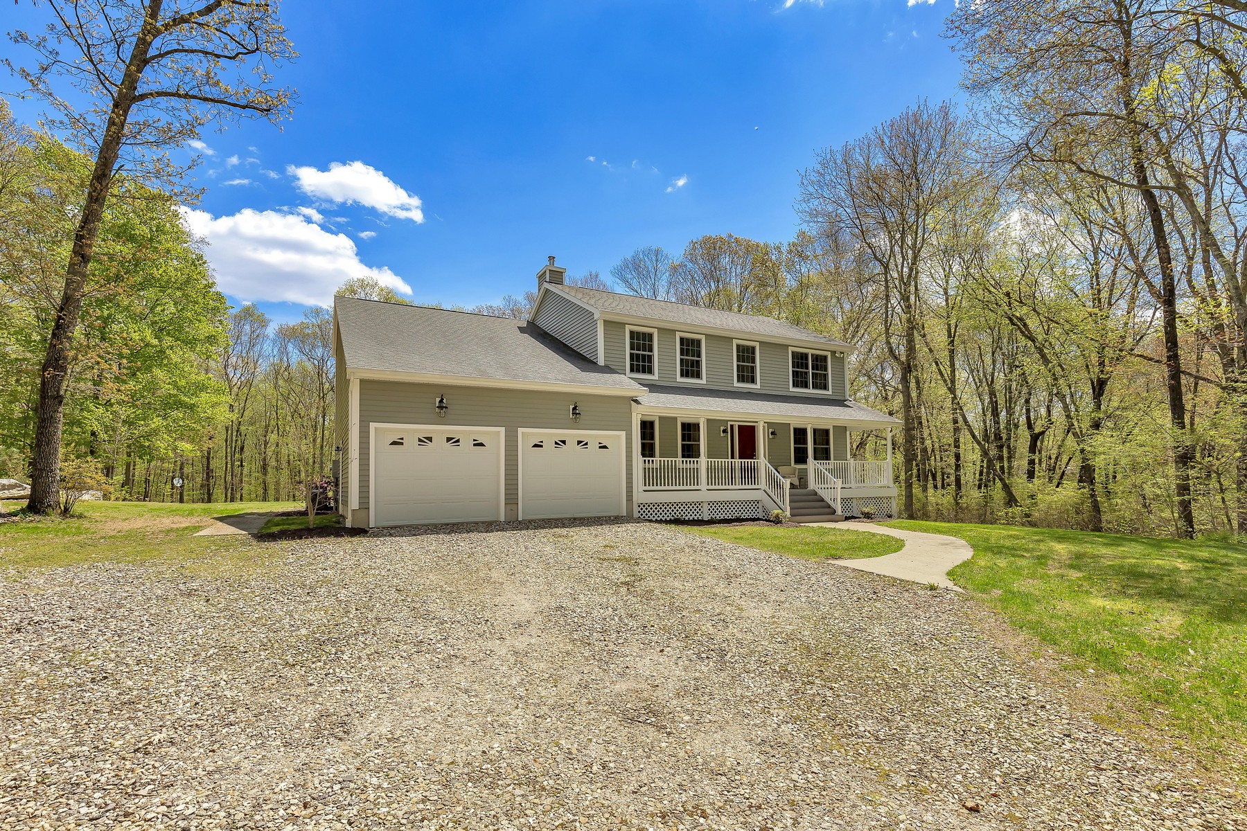 single family homes for Sale at Custom Designed Home On 3.64 Tranquil Acres 358 Bozrah St, Bozrah, Connecticut 06334 United States