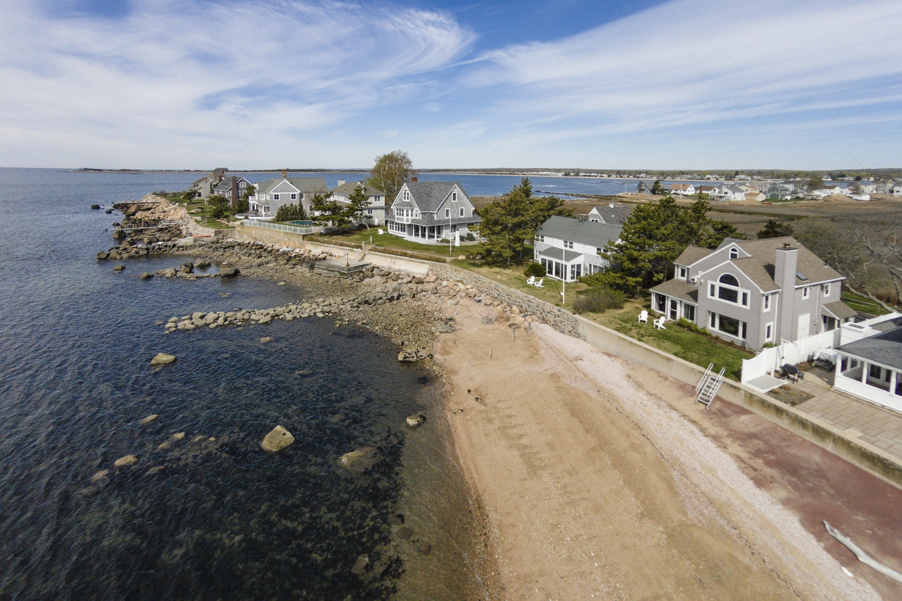 Single Family Home for Sale at Direct Waterfront! Contemporary Colonial 49 Hammock Road, Clinton, Connecticut, 06413 United States