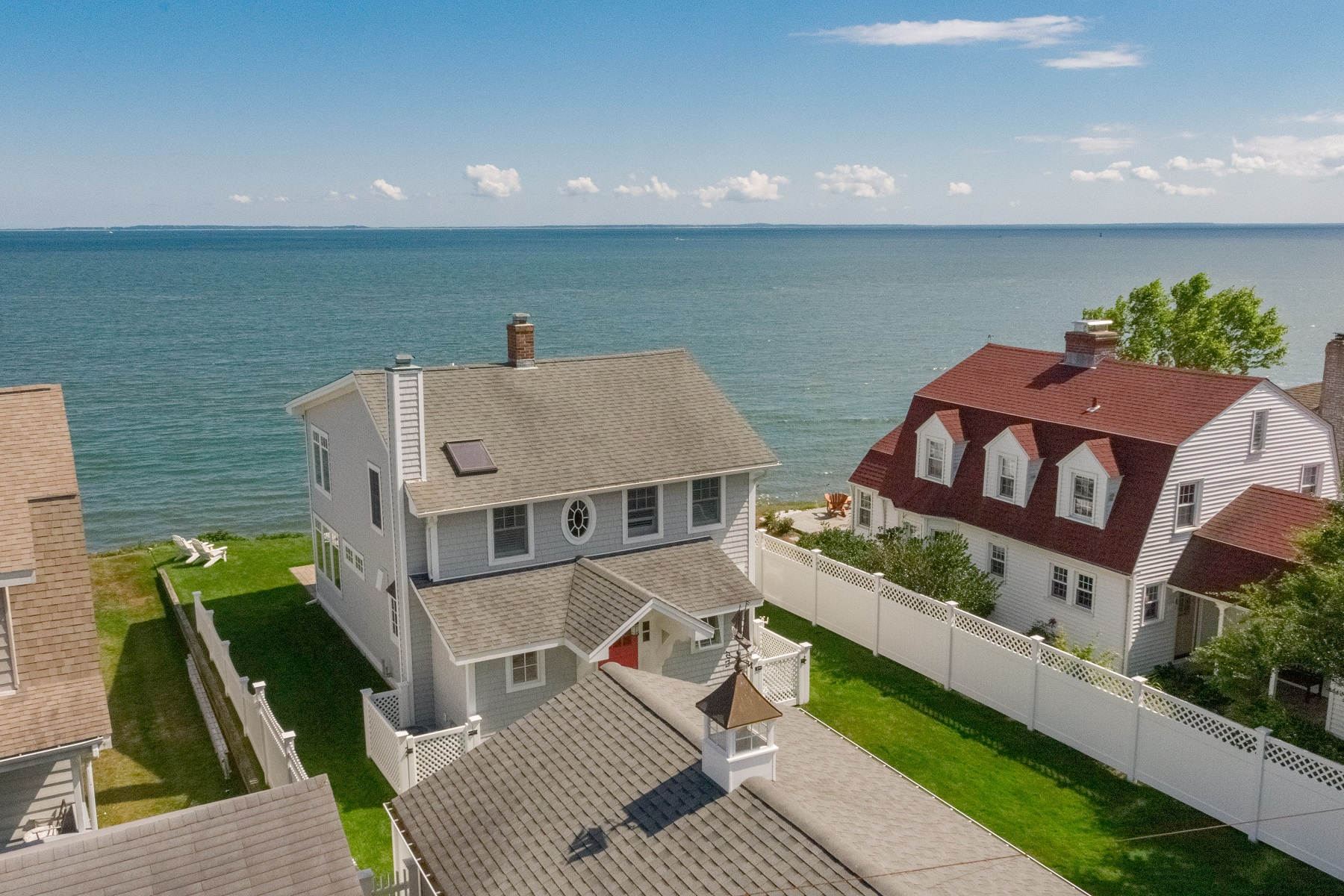 Single Family Homes للـ Sale في Stunning, Direct Waterfront Home 4 Sea Lane, Old Saybrook, Connecticut 06475 United States