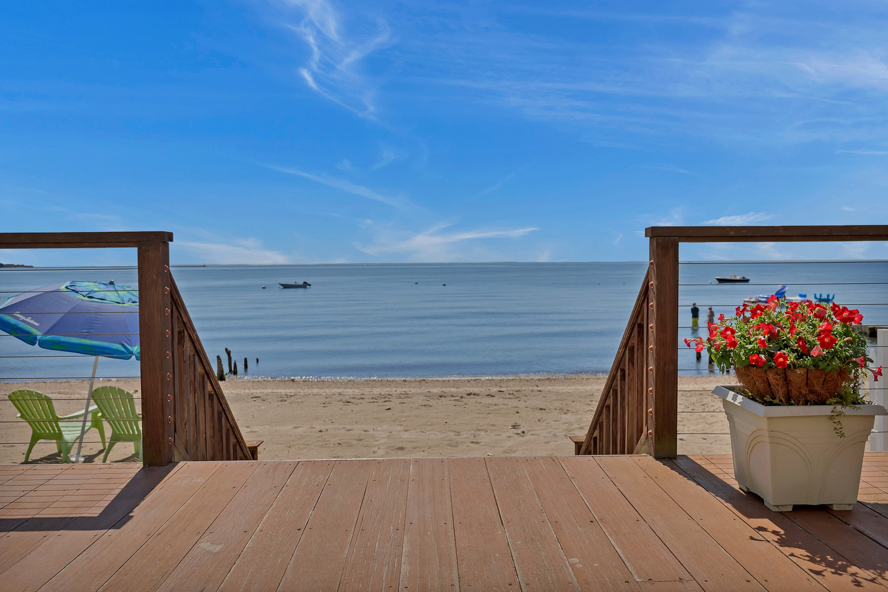 Single Family Homes for Sale at Two Waterfront Homes on a Sandy Beach 97 Shore Road Clinton, Connecticut 06413 United States
