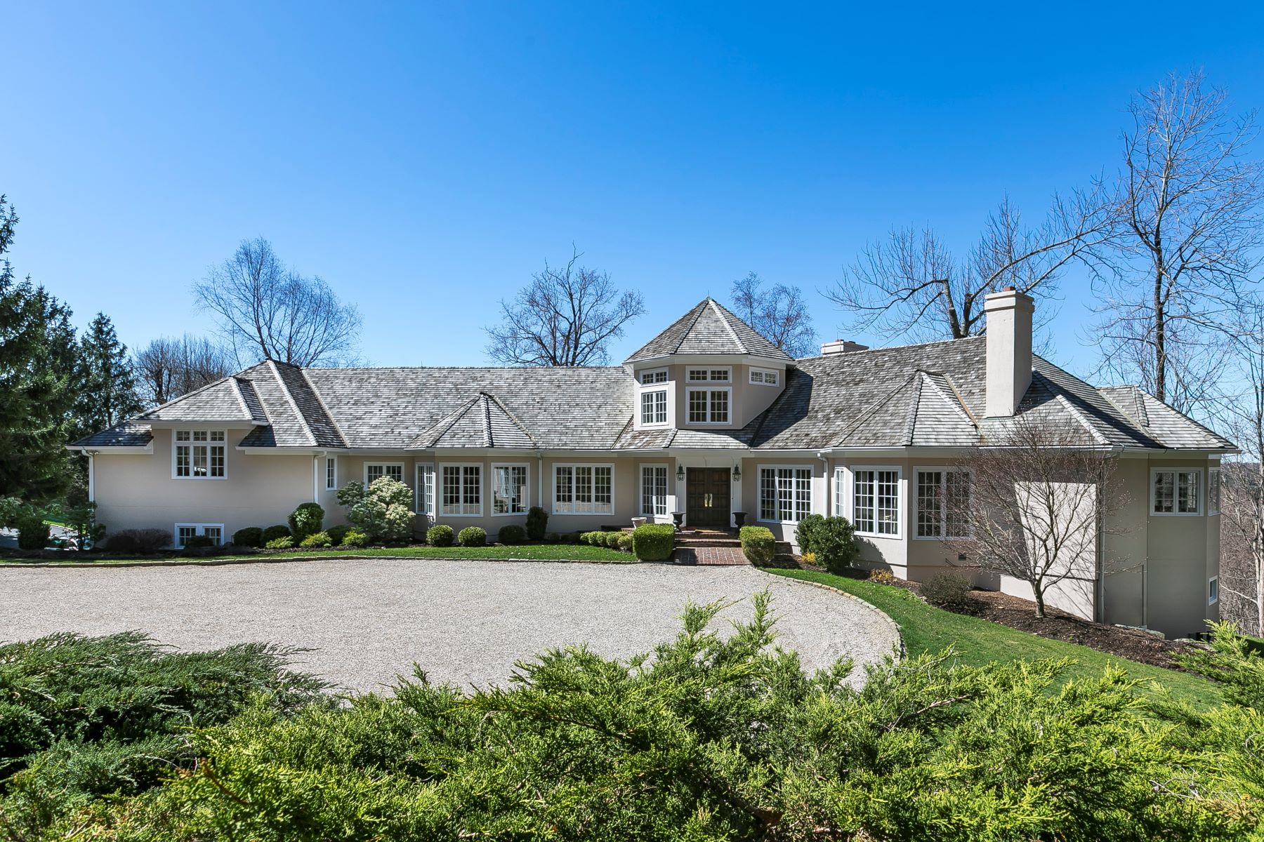 single family homes for Sale at Designer Home with Spectacular Views 154 Oscaleta Road, Ridgefield, Connecticut 06877 United States