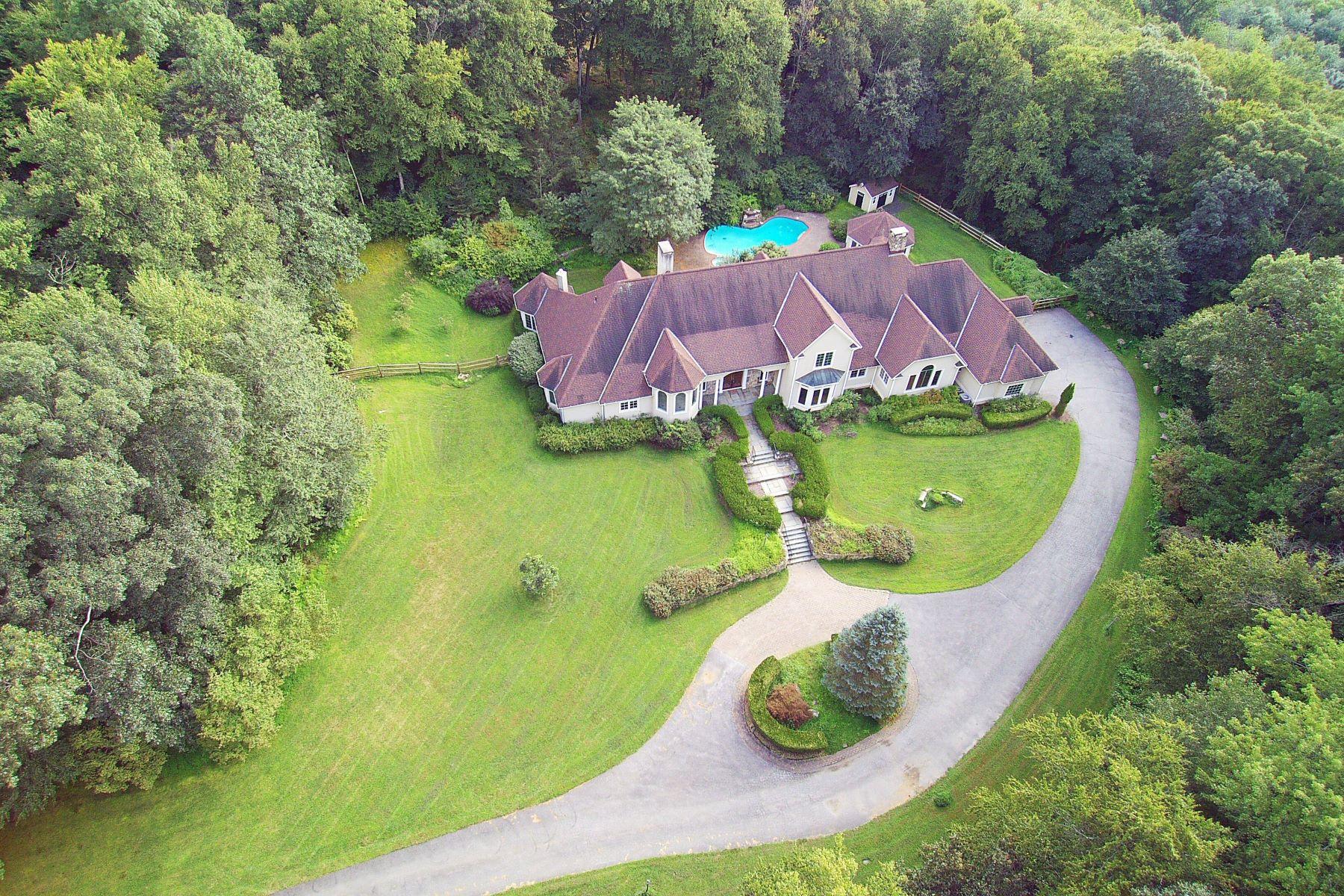 Eensgezinswoning voor Verkoop op Idyllic Country Manor 96 Topstone Road, Redding, Connecticut 06896 Verenigde Staten