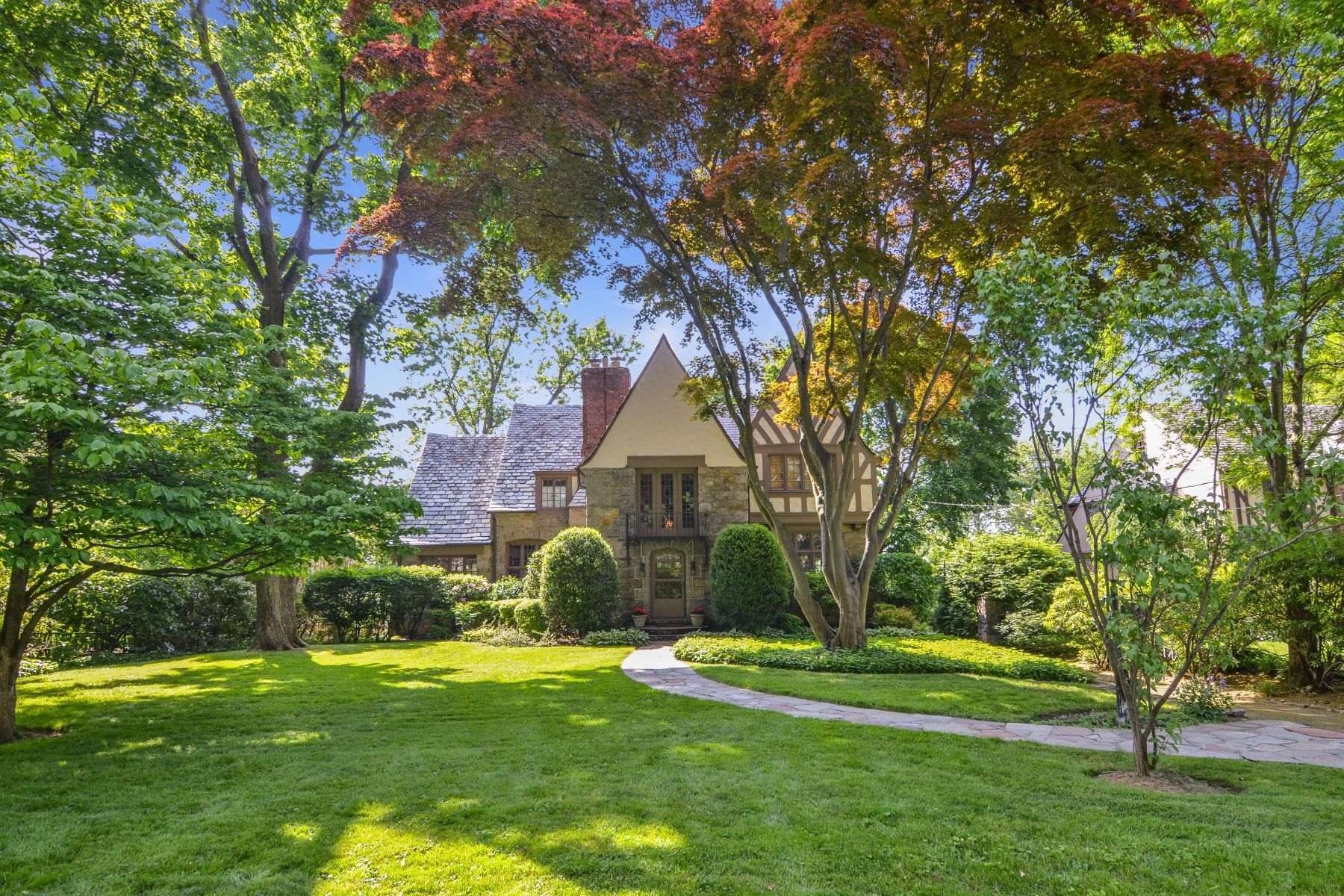 Single Family Home for Sale at Majestic Tudor in Prime Fox Meadow Neighborhood 21 Kensington Road Scarsdale, New York 10583 United States