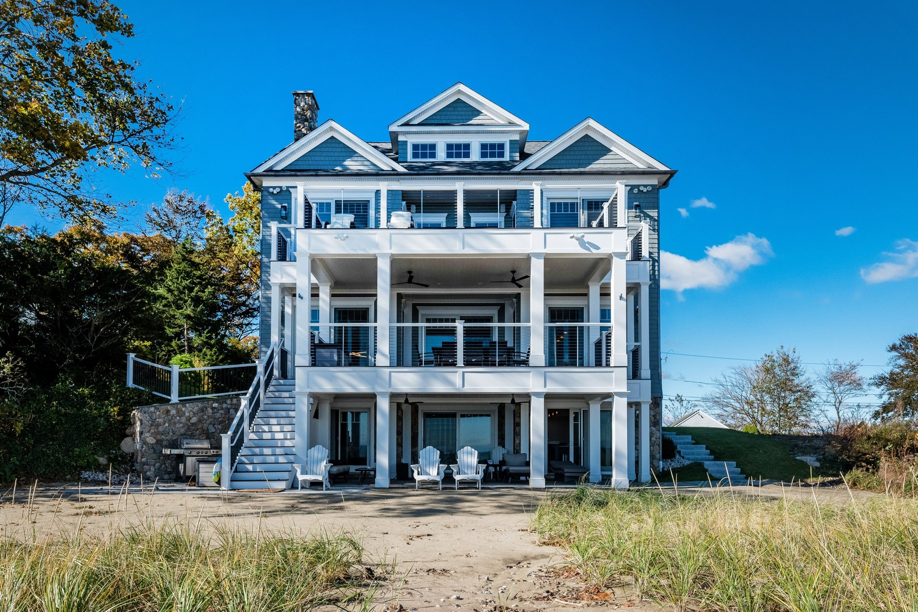 Single Family Homes for Sale at Beachfront Paradise Found! 63 Shore Road Clinton, Connecticut 06413 United States