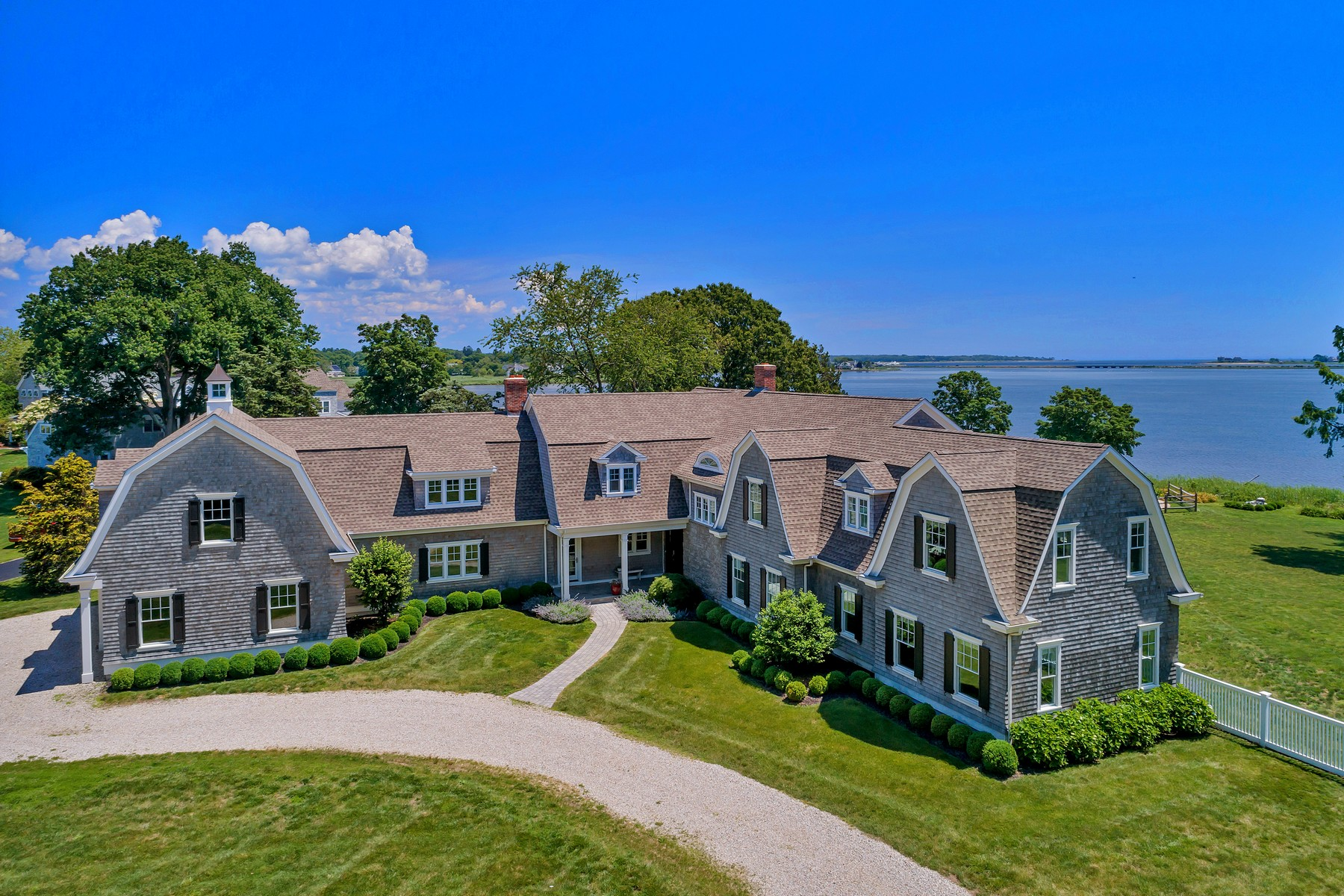Single Family Homes for Sale at Hamptons Style Waterfront Residence 9 Cedar Lane Old Saybrook, Connecticut 06475 United States