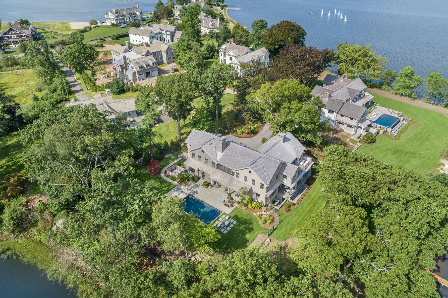 Single Family Home for Sale at 17 Brush Island Road 17 Brush Island Road Darien, Connecticut 06820 United States