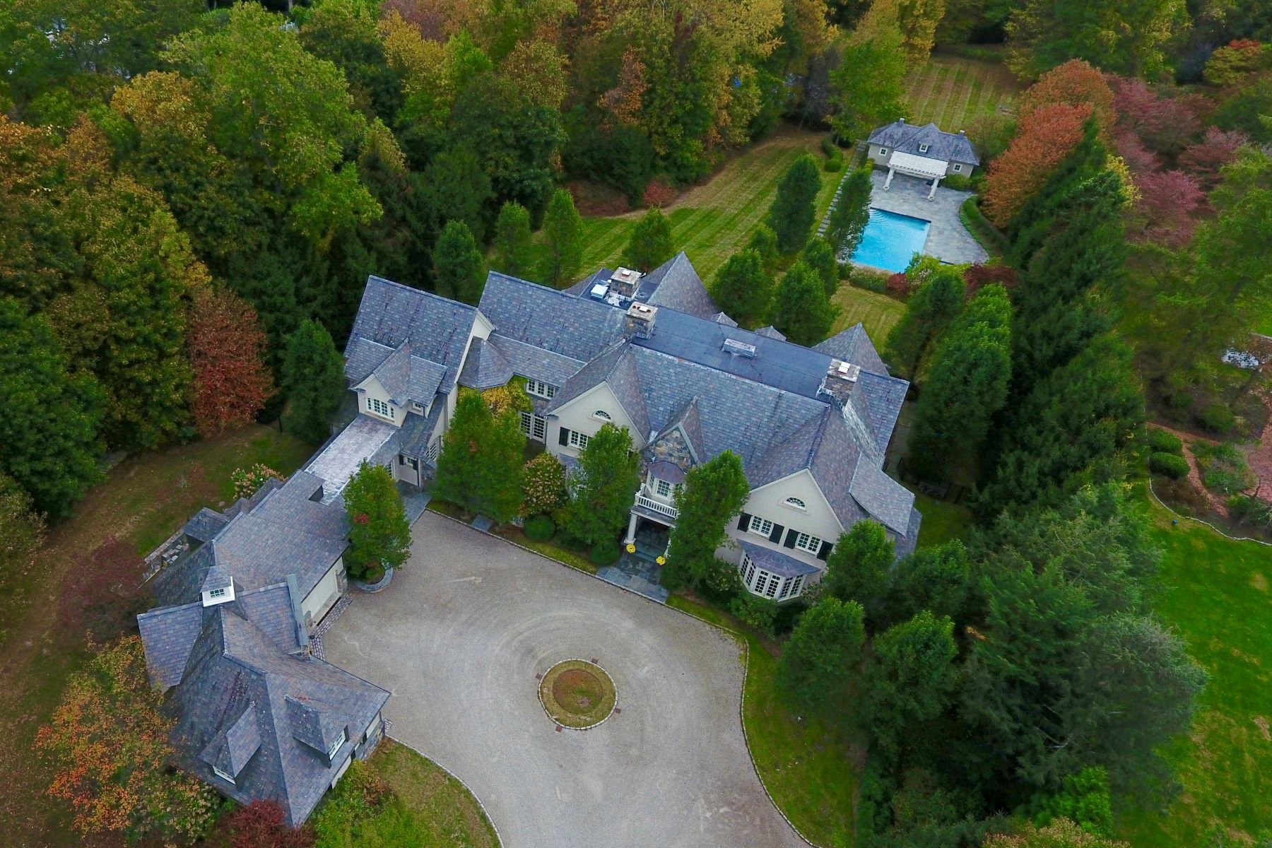 Maison unifamiliale pour l Vente à Amazing Roger Ferris Custom-Designed Property 35 Kettle Creek Road, Weston, Connecticut, 06883 États-Unis