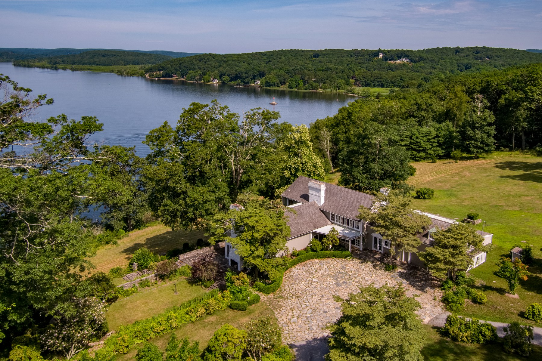 Single Family Homes for Active at Elegant Ct. River Waterfront Estate 85 Joshua Lane Lyme, Connecticut 06371 United States