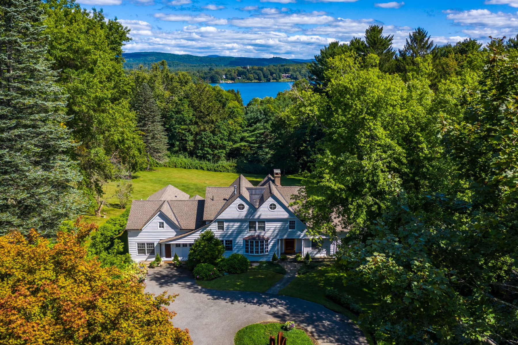 Single Family Homes for Sale at Spectacular Lakeville Home with Lakefront Cabin 226 Millerton Road, Salisbury, Connecticut 06039 United States