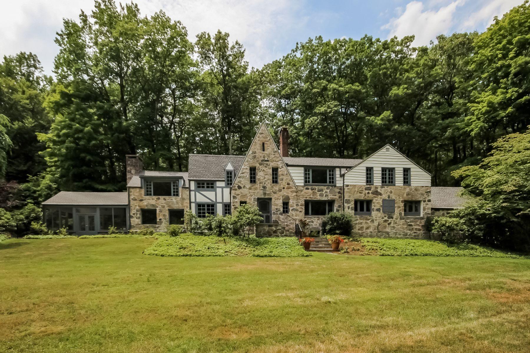 独户住宅 为 销售 在 English Stone Country Home 133 Laurel Road 斯坦福, 康涅狄格州 06903 美国