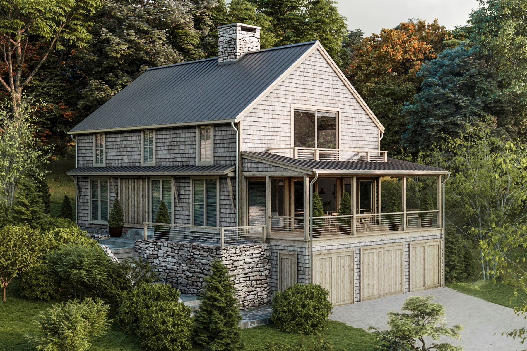 single family homes voor Verkoop op Special Waterfront Setting with Southern Exposure 159 A North Shore Road, Warren, Connecticut 06777 Verenigde Staten