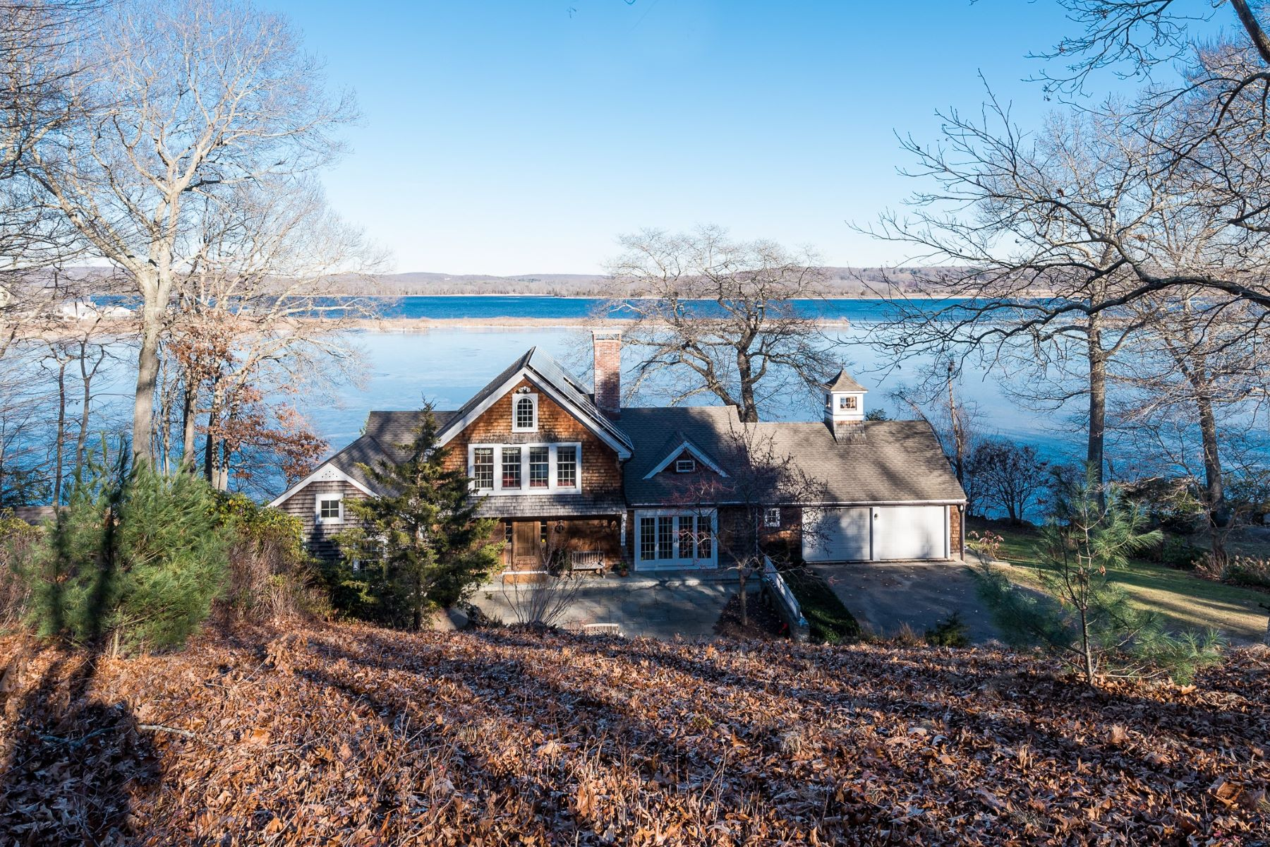 single family homes for Sale at Direct Waterfront! Sweeping Views of Ct. River and Harbor 50 Crosstrees Hill Road, Essex, Connecticut 06426 United States